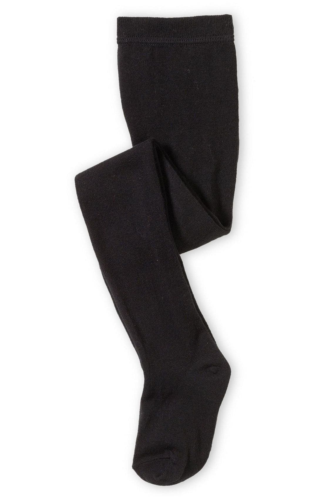 Girls Nordstrom Sweater Tights Size 1014  Black