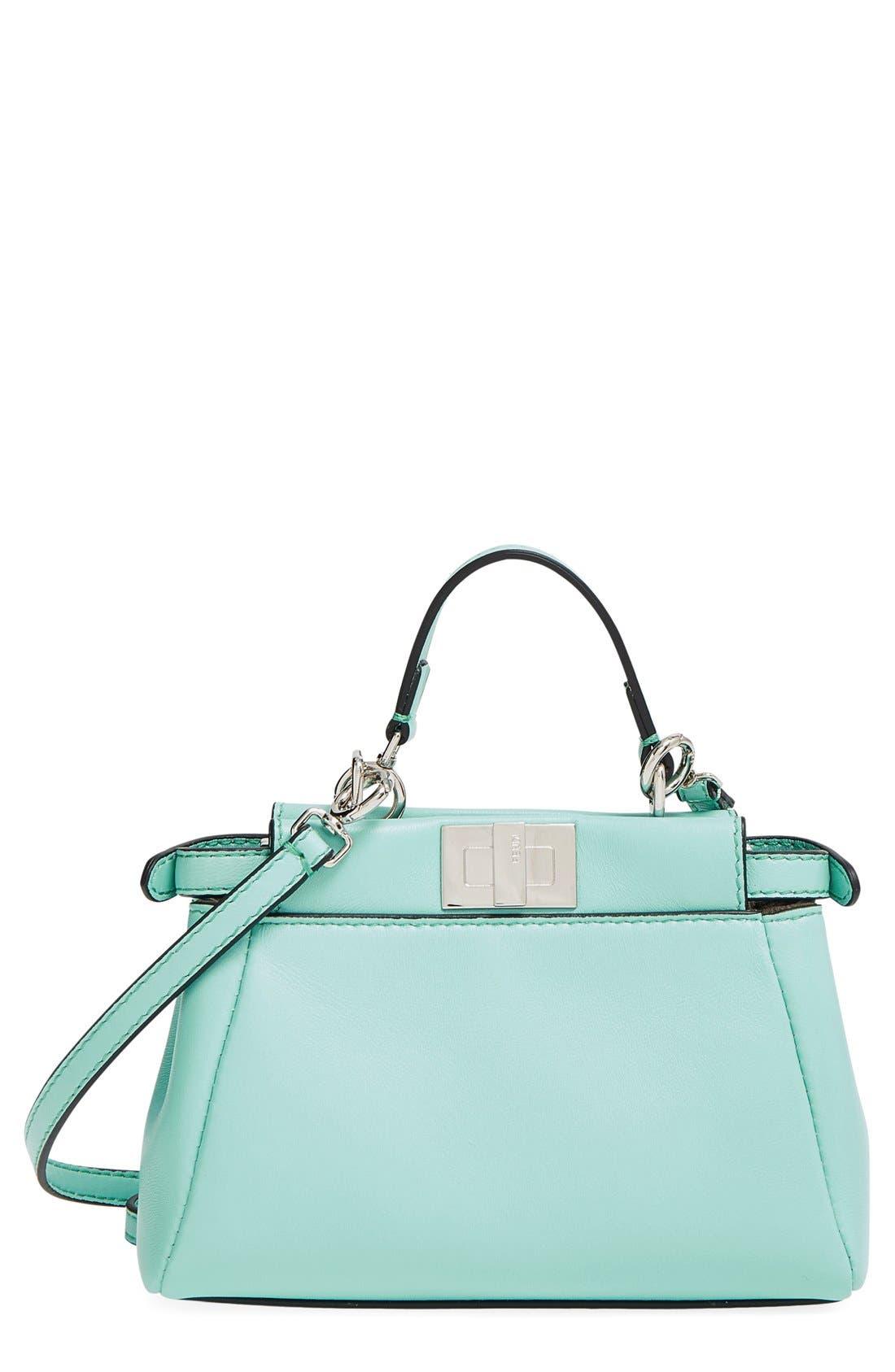 'Micro Peekaboo' Nappa Leather Bag,                         Main,                         color, 401