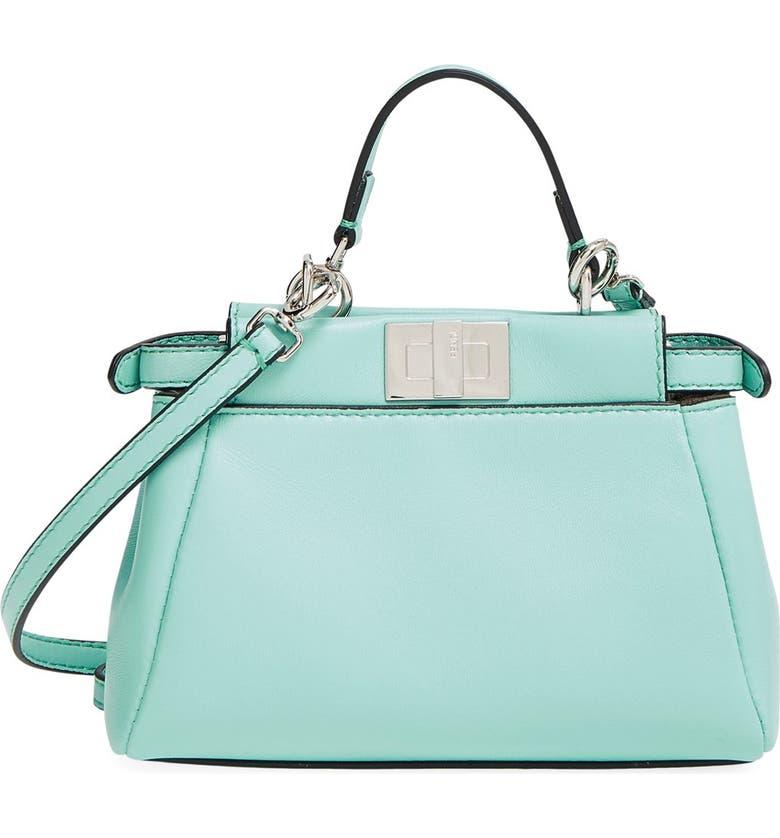 00223d46842f Fendi  Micro Peekaboo  Nappa Leather Bag