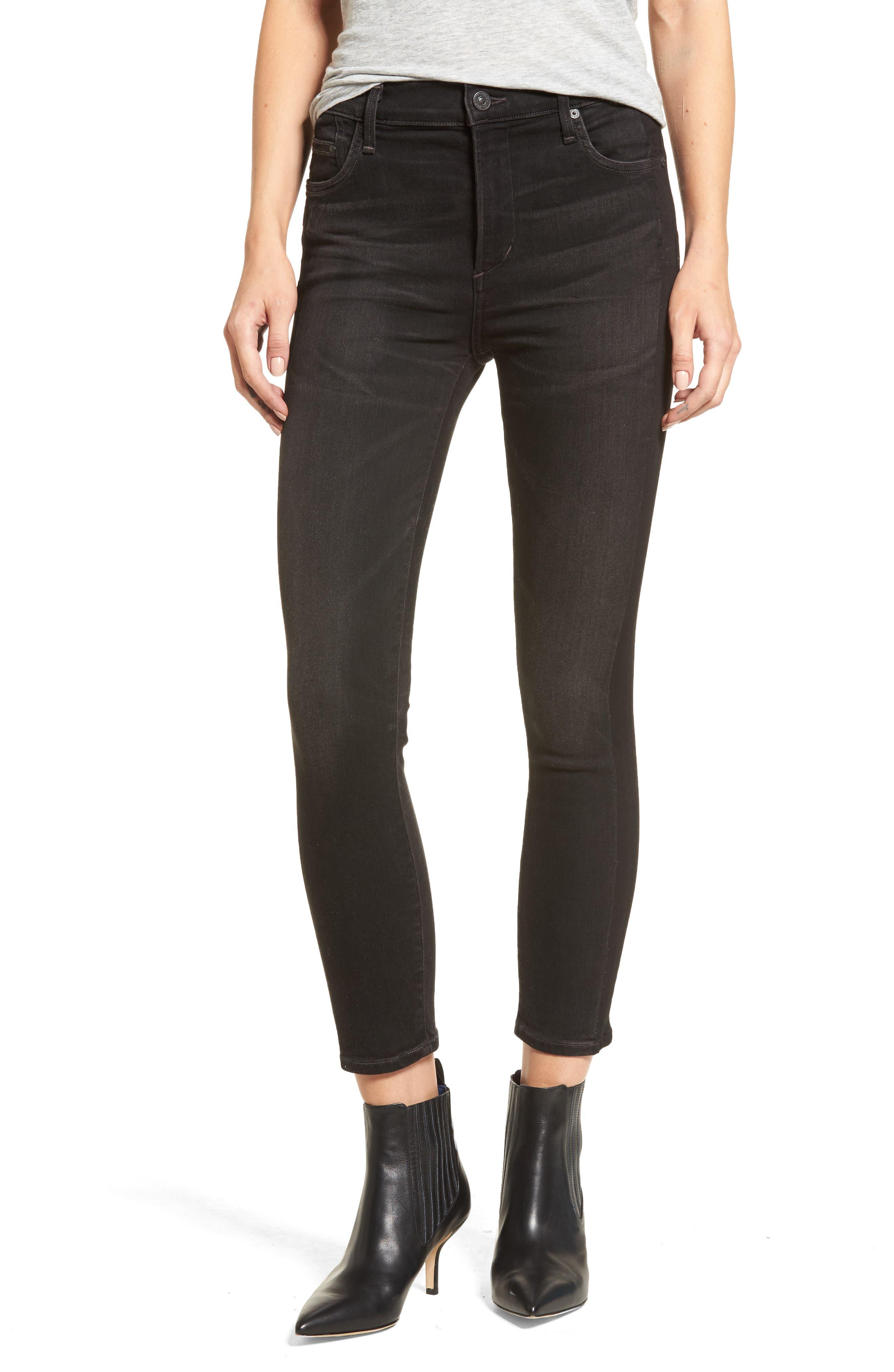 Rocket High Waist Crop Skinny Jeans,                             Main thumbnail 1, color,                             009