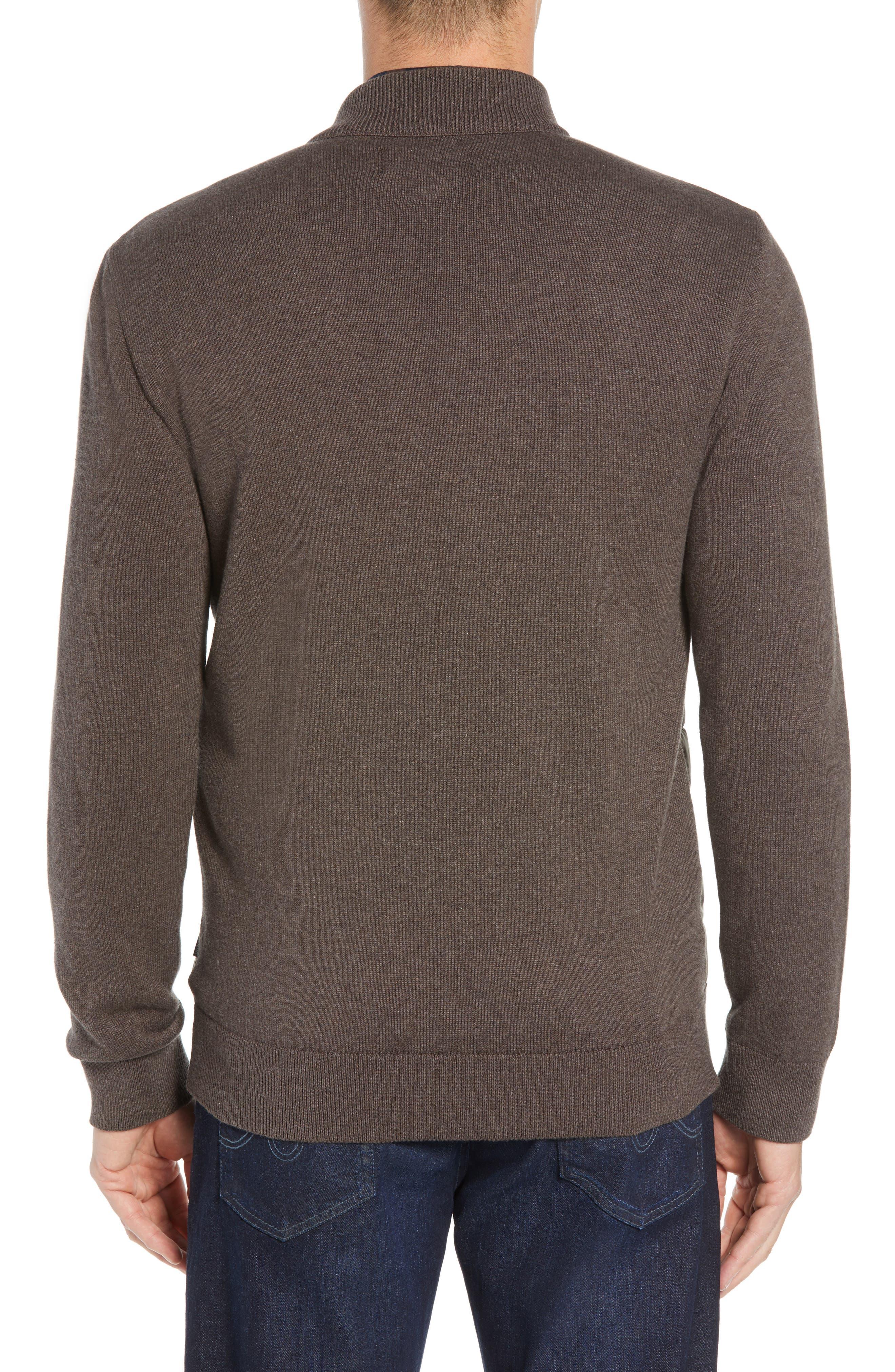 BARBOUR,                             Carn Baffle Front Knit Jacket,                             Alternate thumbnail 2, color,                             250