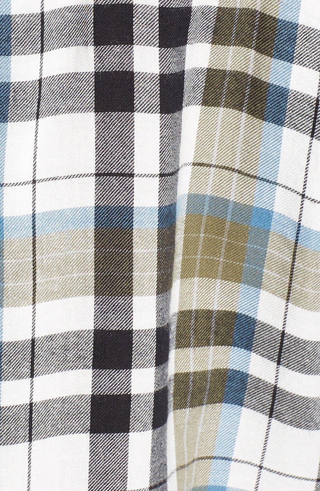 Twist Front Plaid Shirt,                             Alternate thumbnail 4, color,                             315