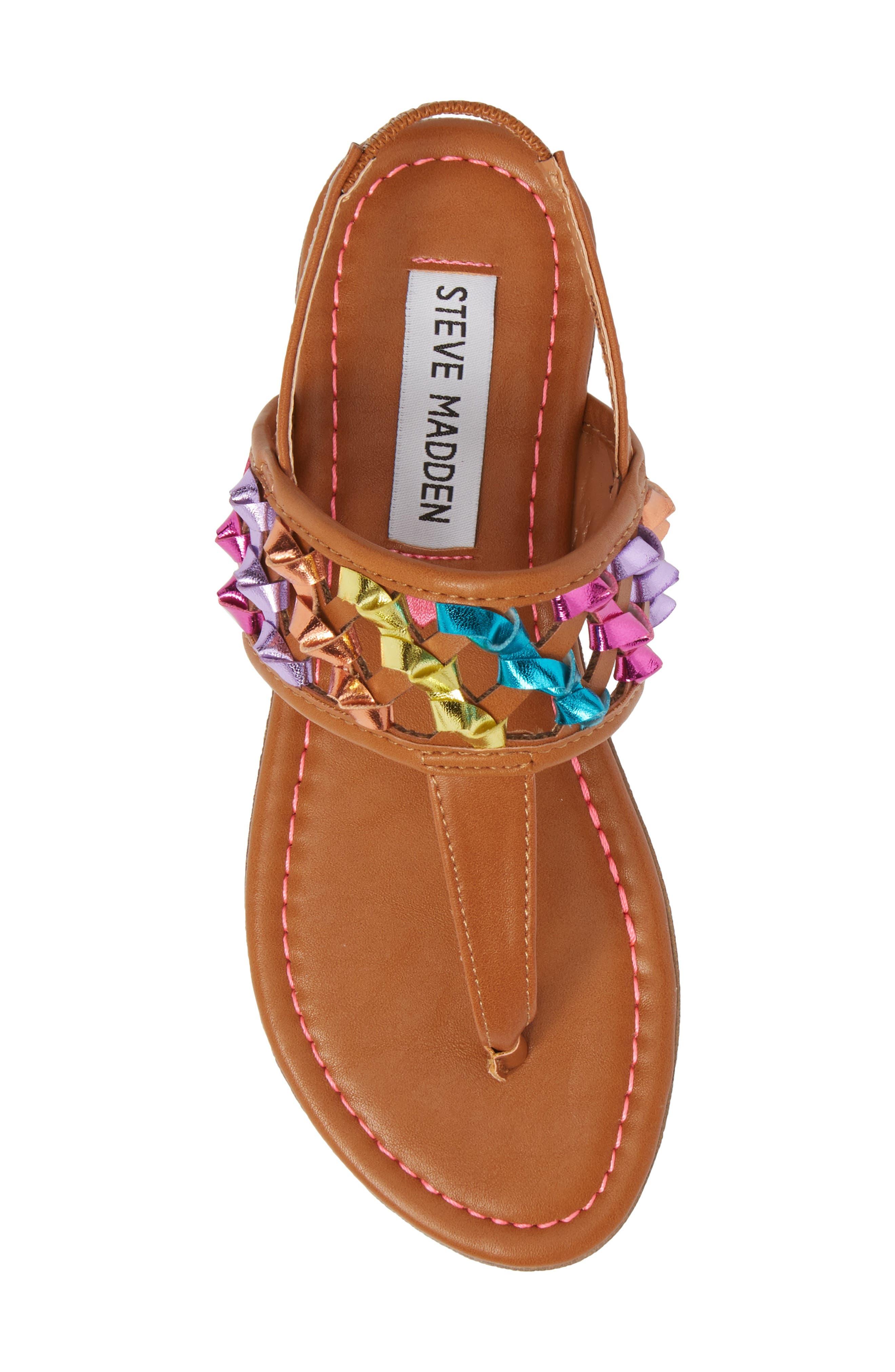 JTWIZZLE Knotted T-Strap Sandal,                             Alternate thumbnail 5, color,                             200