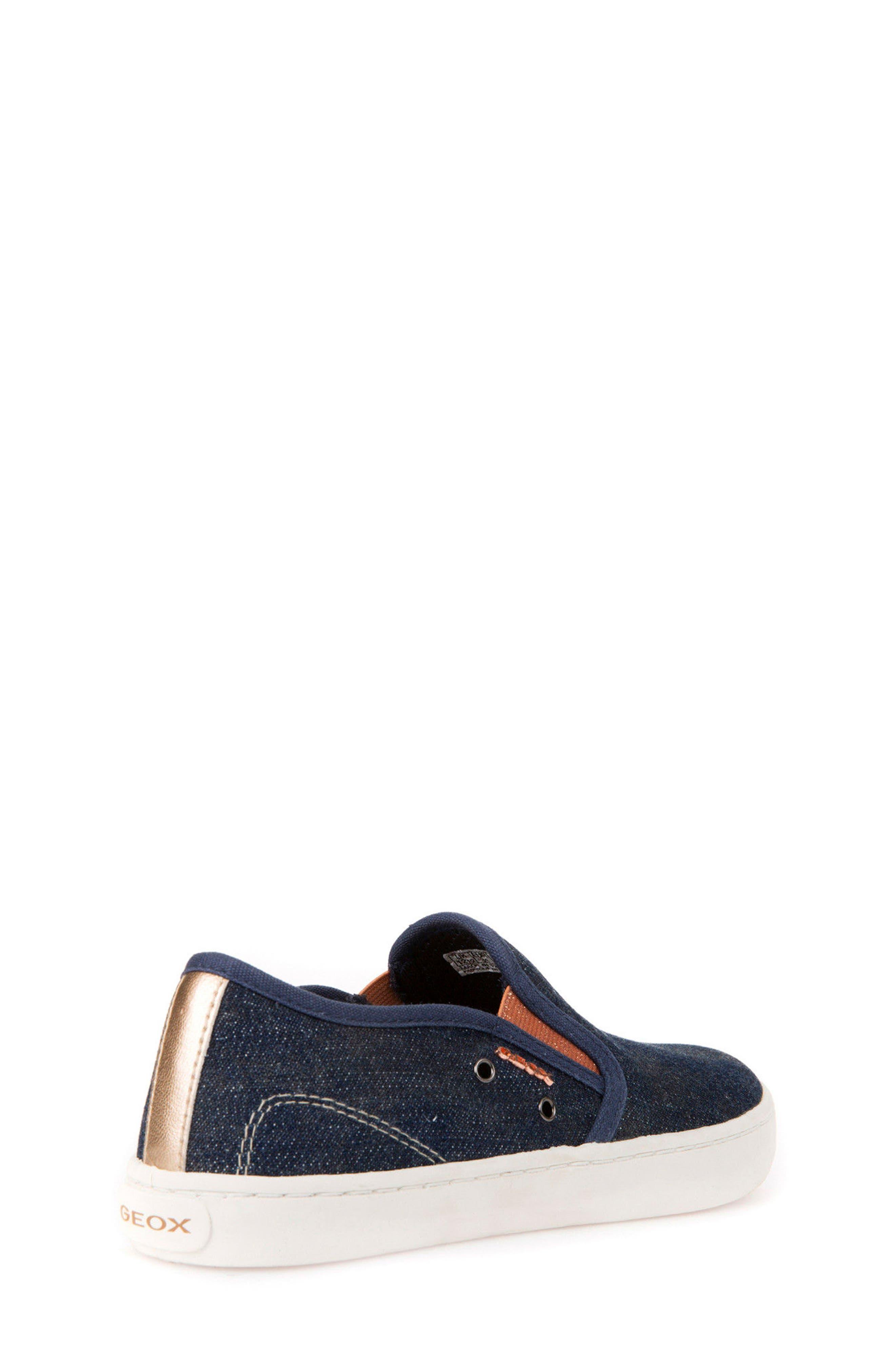 Jr Kiwi Slip-On Waterproof Sneaker,                             Alternate thumbnail 7, color,                             JEANS