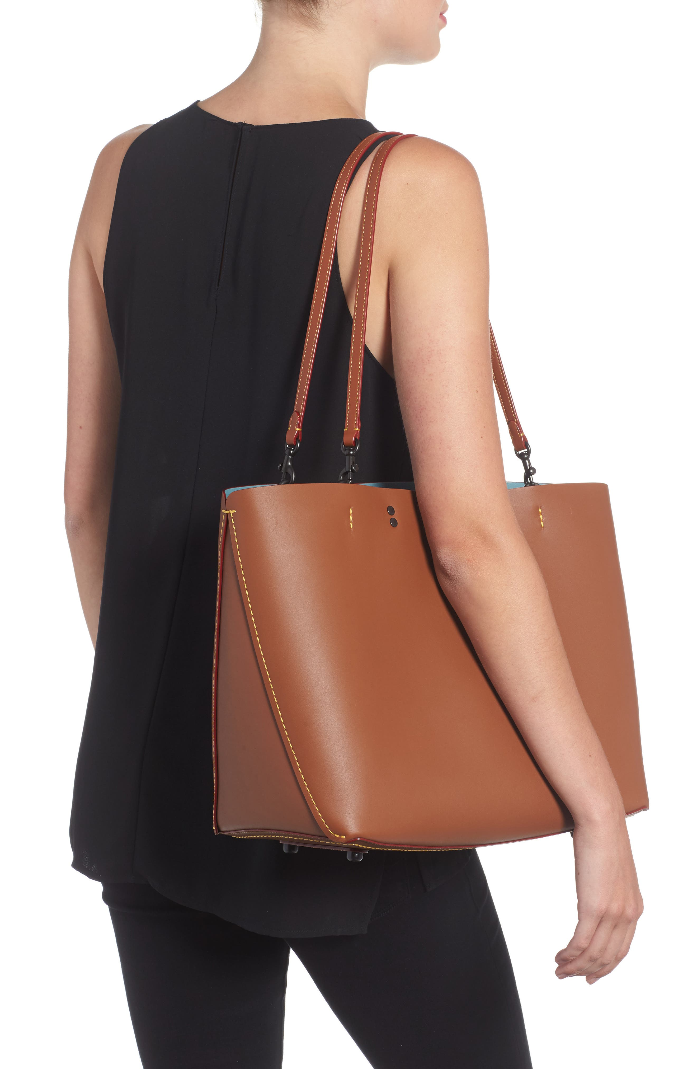 Rogue Leather Tote,                             Alternate thumbnail 2, color,                             232