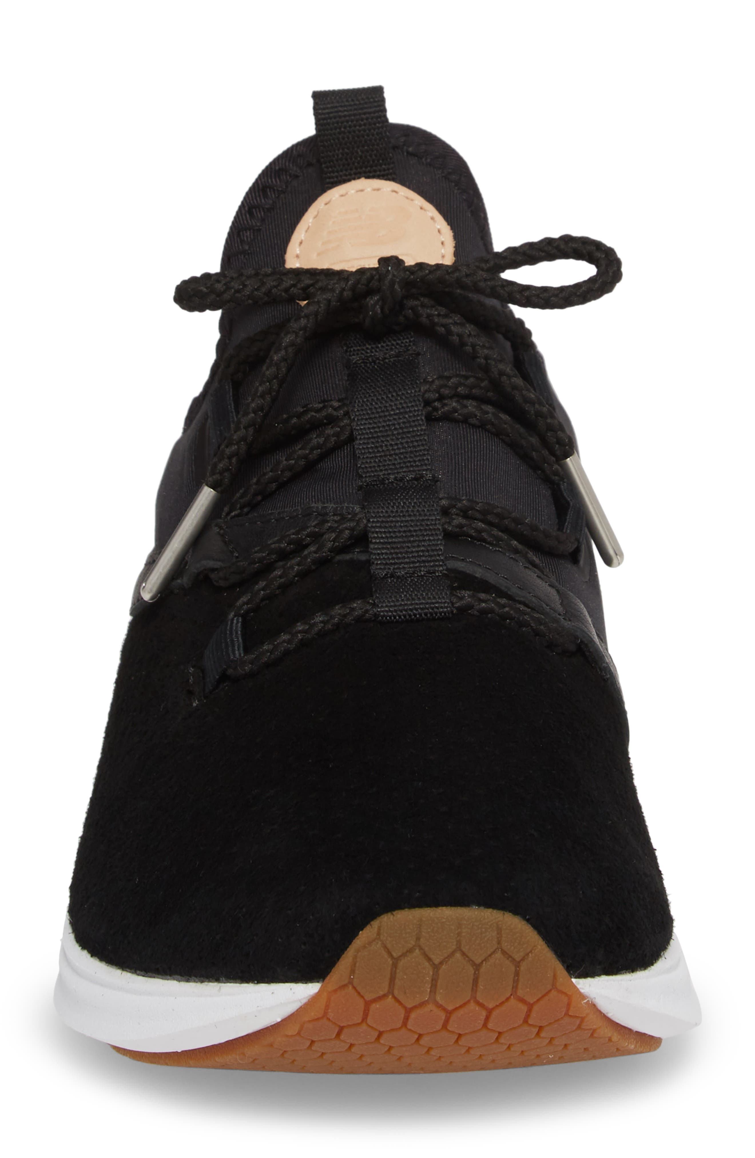 Fresh Foam Laser Luxe Sneaker,                             Alternate thumbnail 4, color,                             001