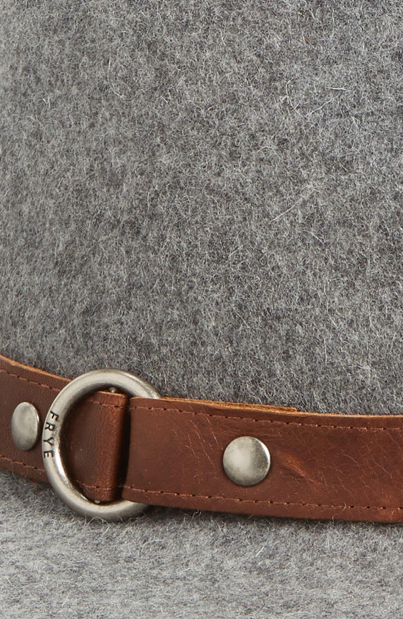 Harness Wool Felt Panama Hat,                             Alternate thumbnail 2, color,                             GRAY