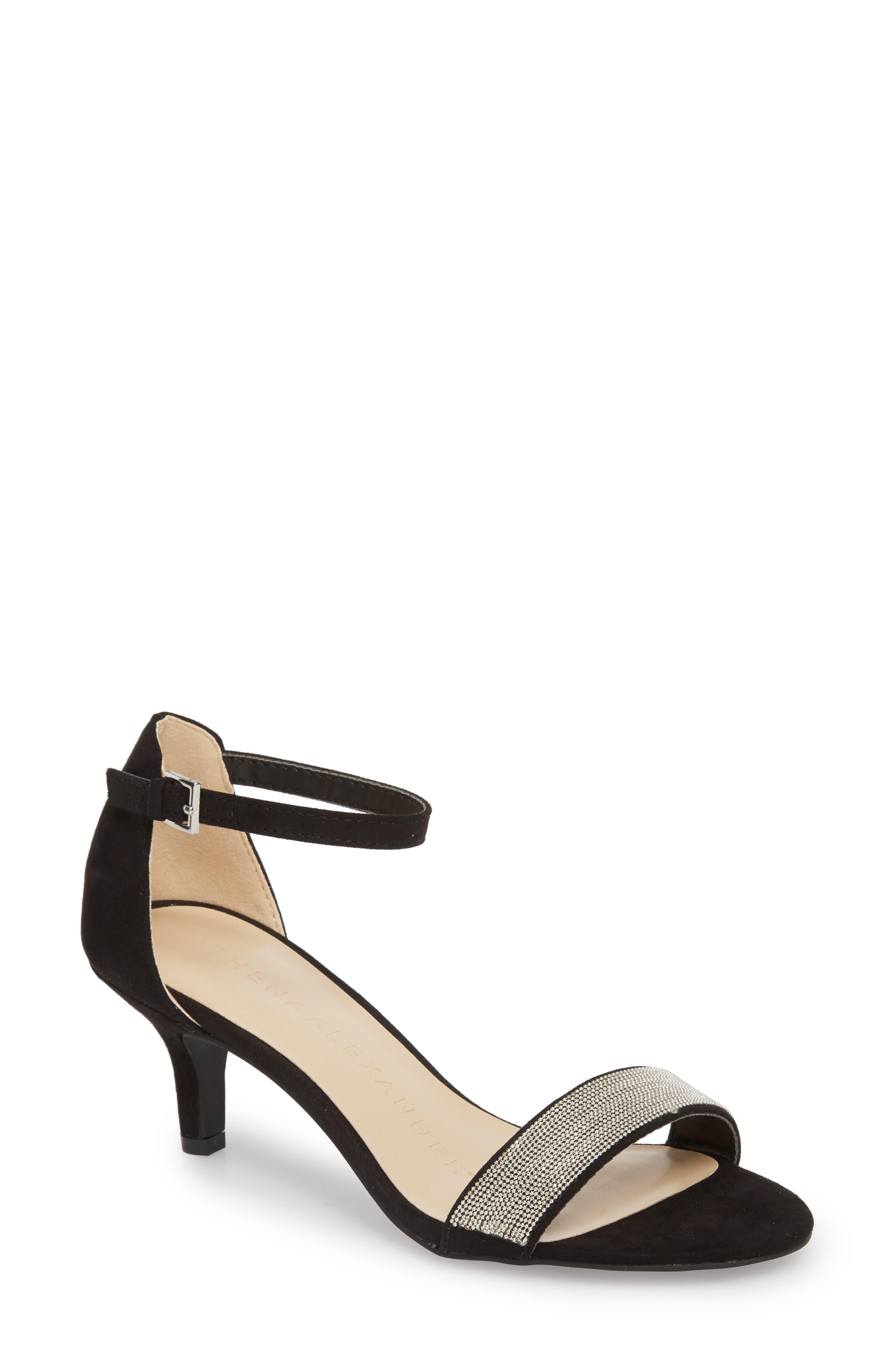 Milford Sandal,                         Main,                         color, BLACK SUEDE