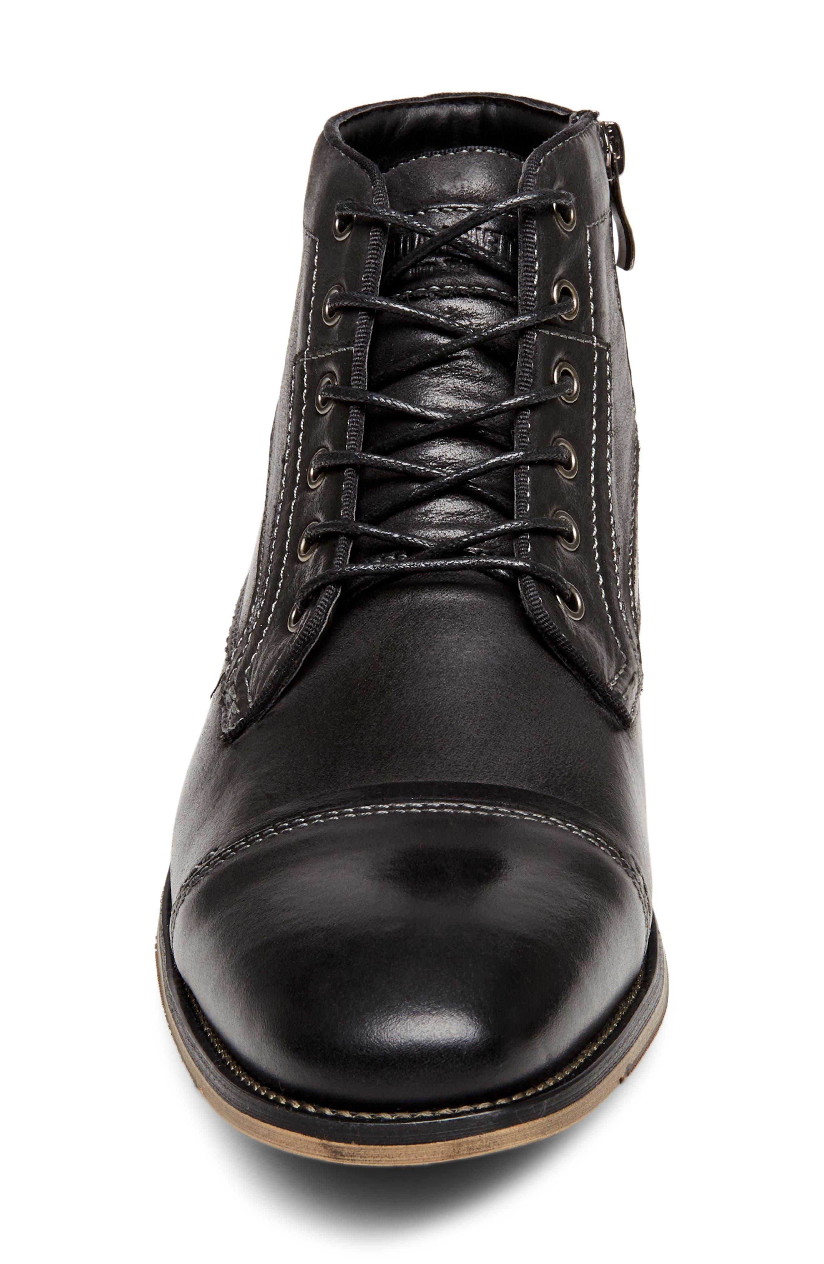 Jeffries Cap Toe Boot,                             Alternate thumbnail 4, color,                             074