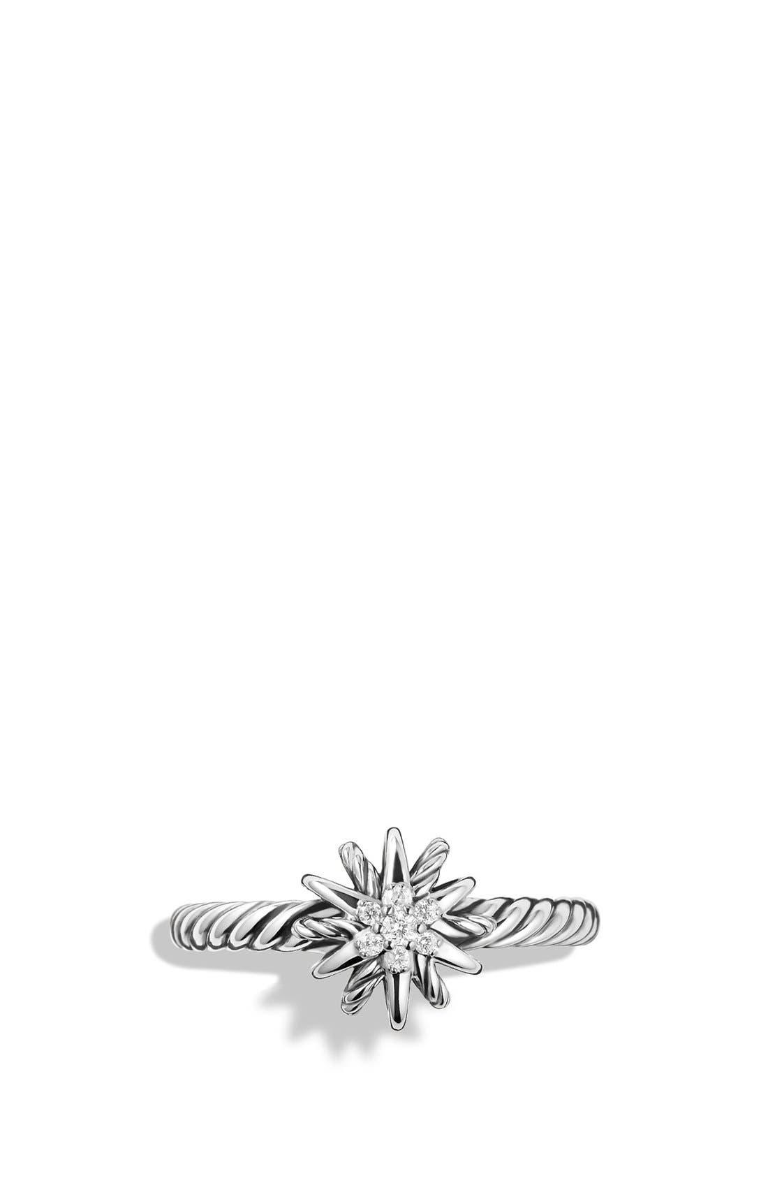 'Starburst' Ring with Diamonds,                             Alternate thumbnail 3, color,                             DIAMOND