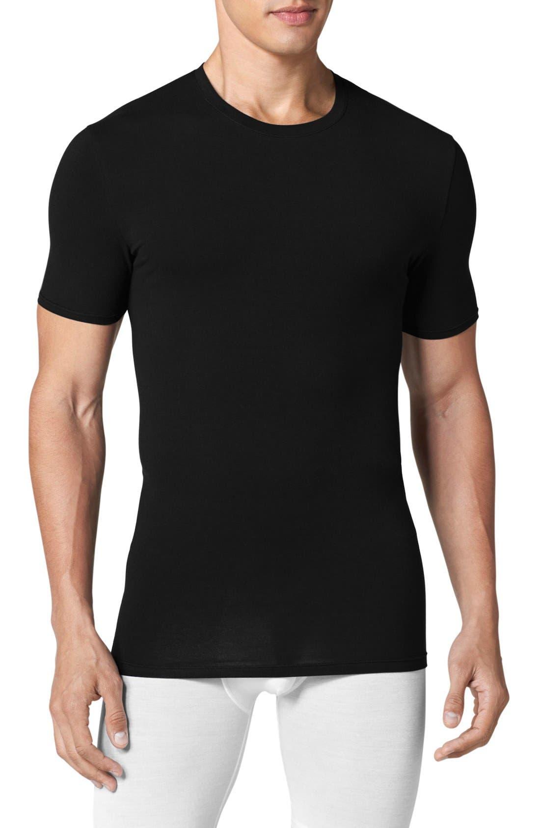 TOMMY JOHN Men'S Stay-Tucked Crew-Neck T-Shirt in Black