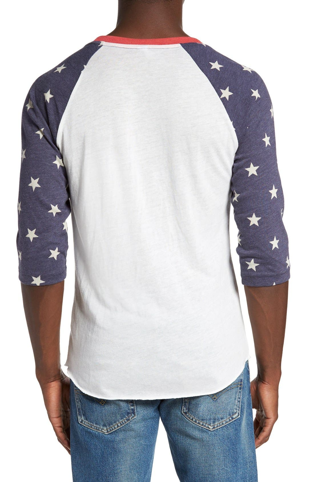 Print Baseball T-Shirt,                             Alternate thumbnail 2, color,                             493