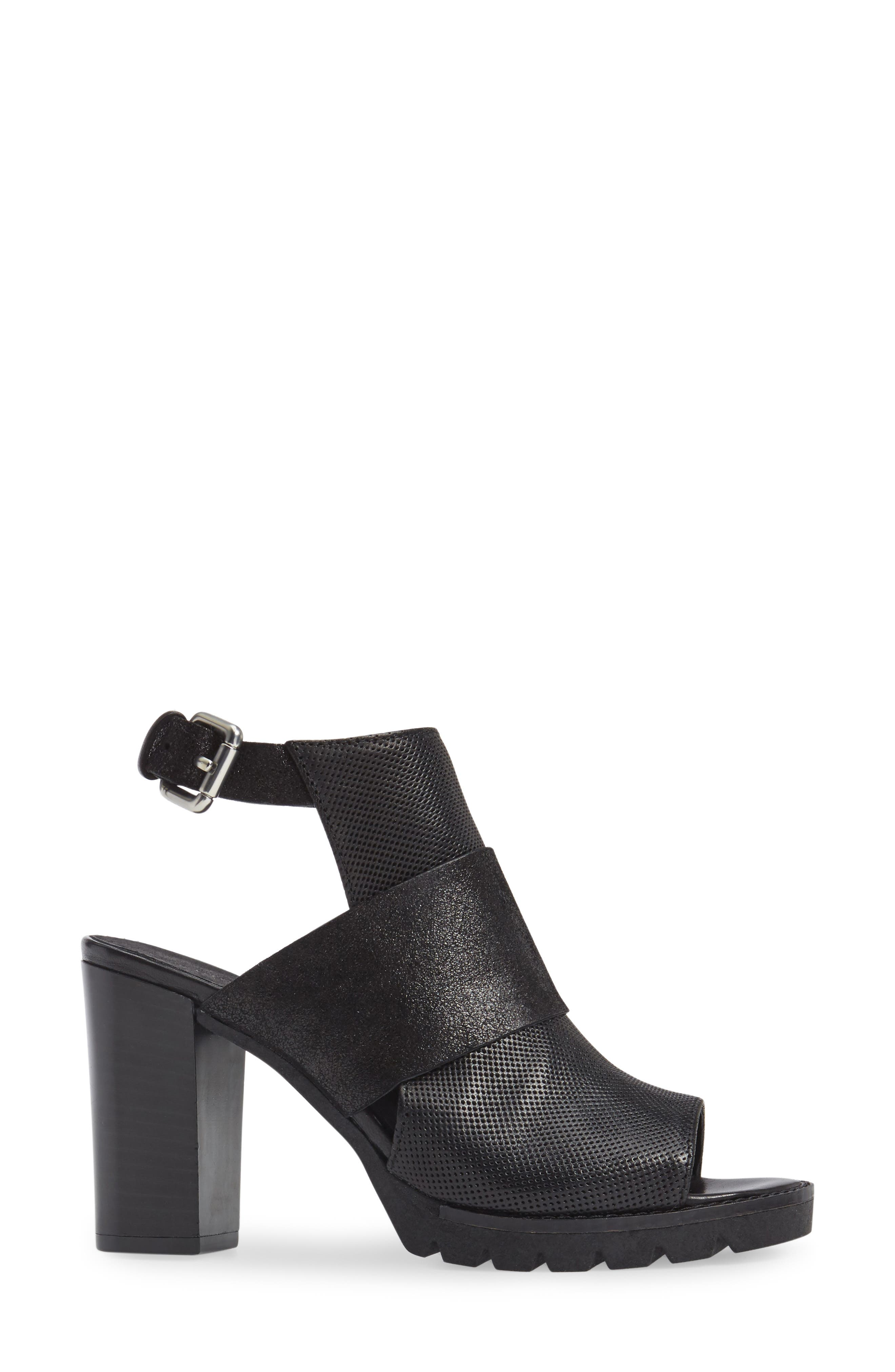 Brittni Block Heel Sandal,                             Alternate thumbnail 3, color,                             001