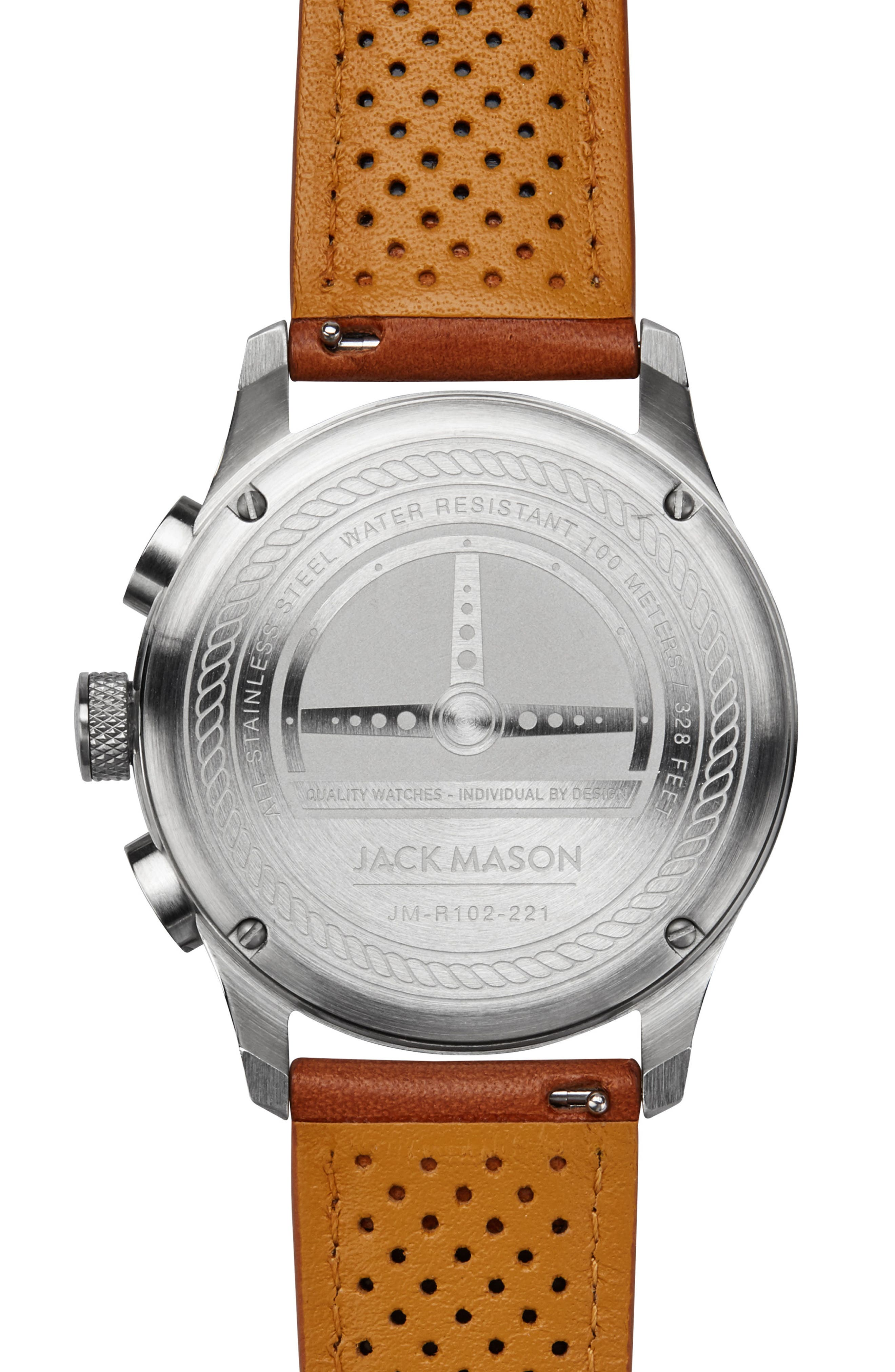 Racing Chronograph Leather Strap Watch, 42mm,                             Alternate thumbnail 2, color,                             250