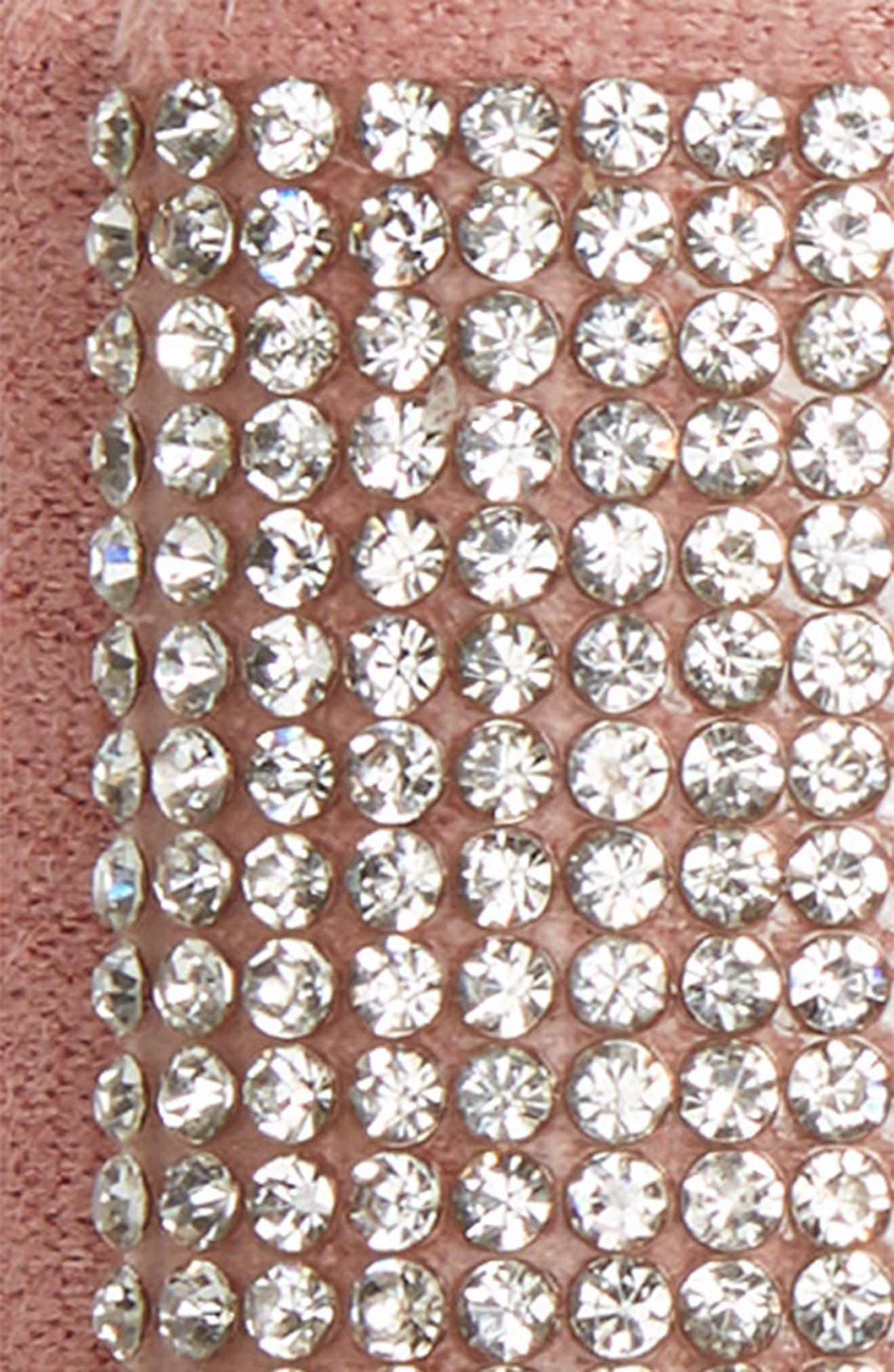 Manière Swarovski Crystal Hair Clip,                             Alternate thumbnail 3, color,                             PINK