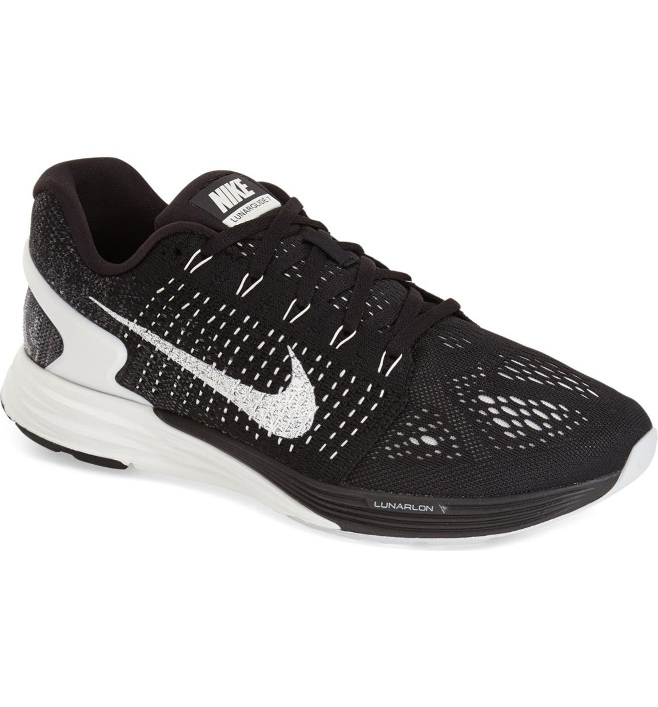 38ee4a7da03d ... Black Summit White Anthracite  Nike Lunarglide 7 Running Shoe (Men)  Nordstrom ...
