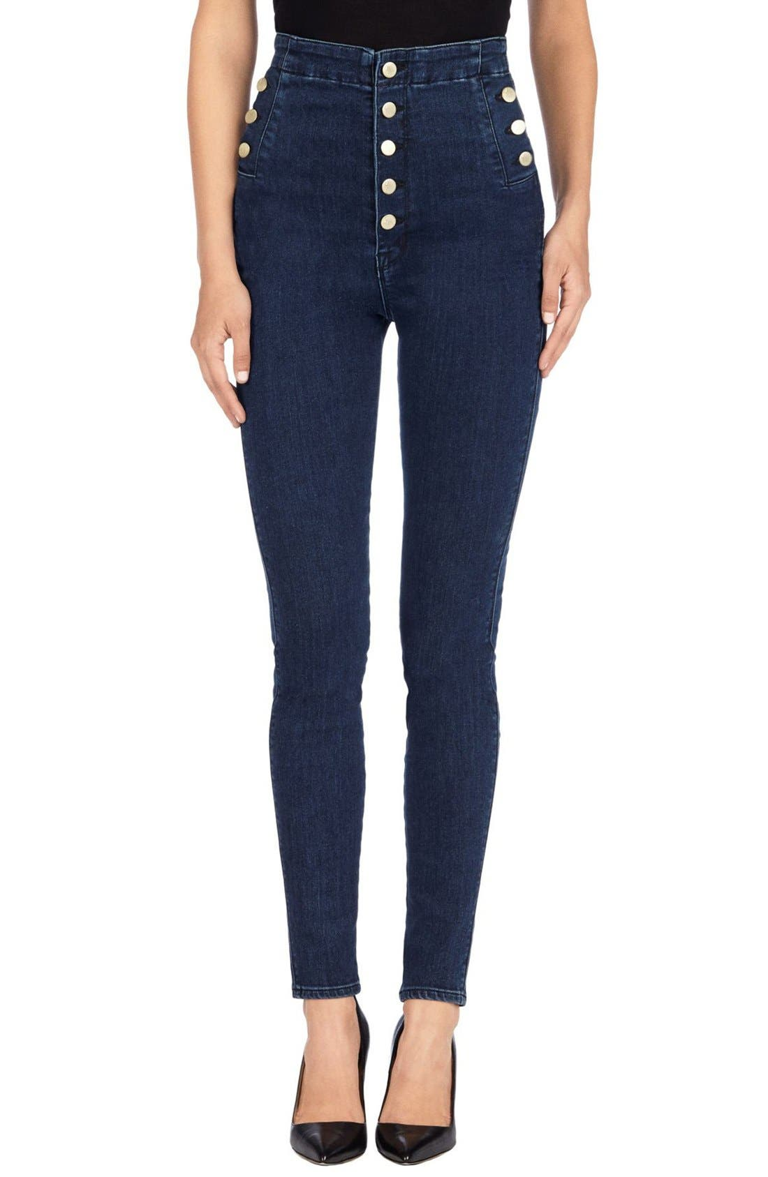 'Natasha Sky High' High Rise Skinny Jeans,                             Main thumbnail 1, color,                             410