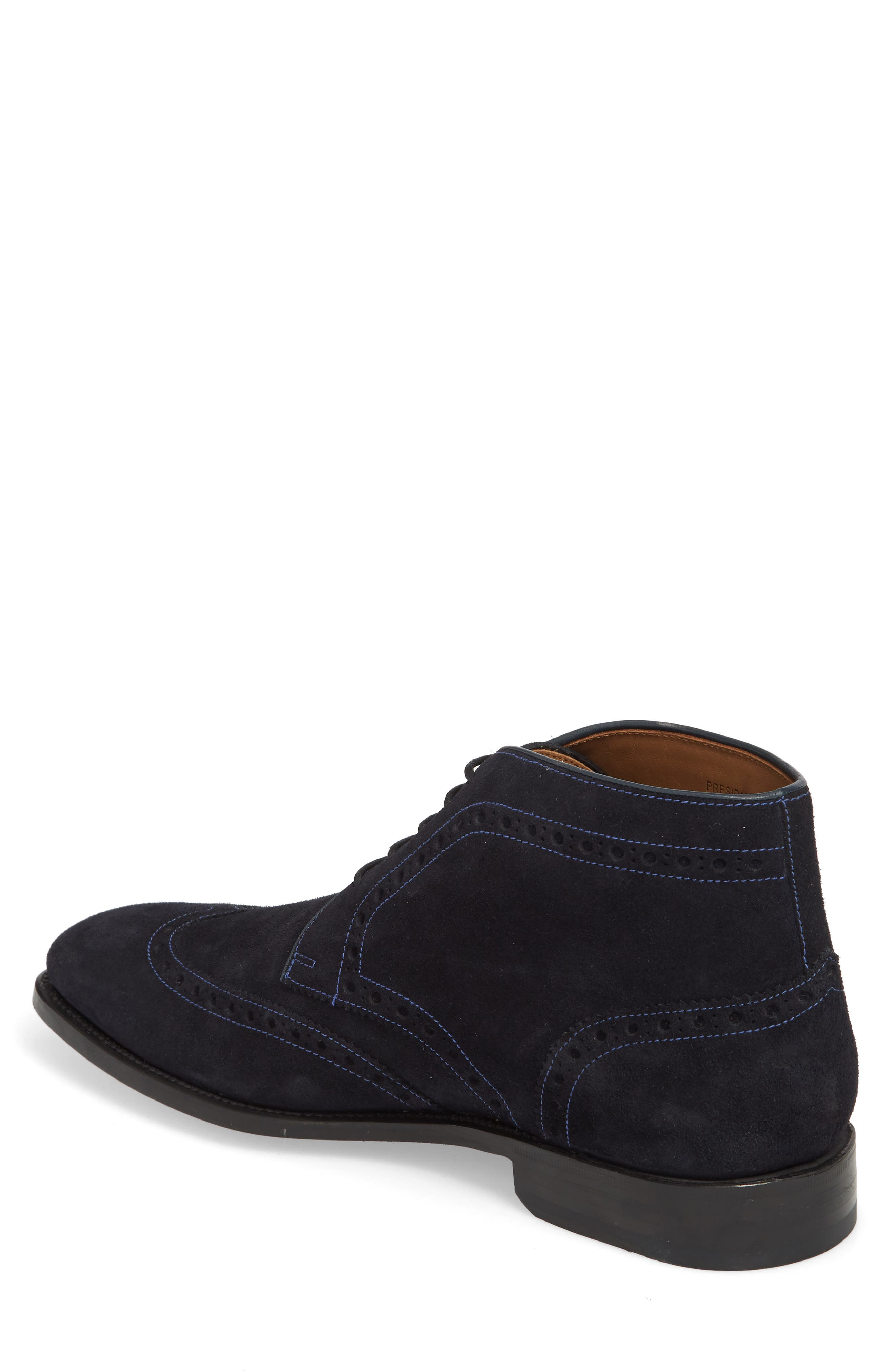 Presidio Wingtip Boot,                             Alternate thumbnail 2, color,                             NAVY