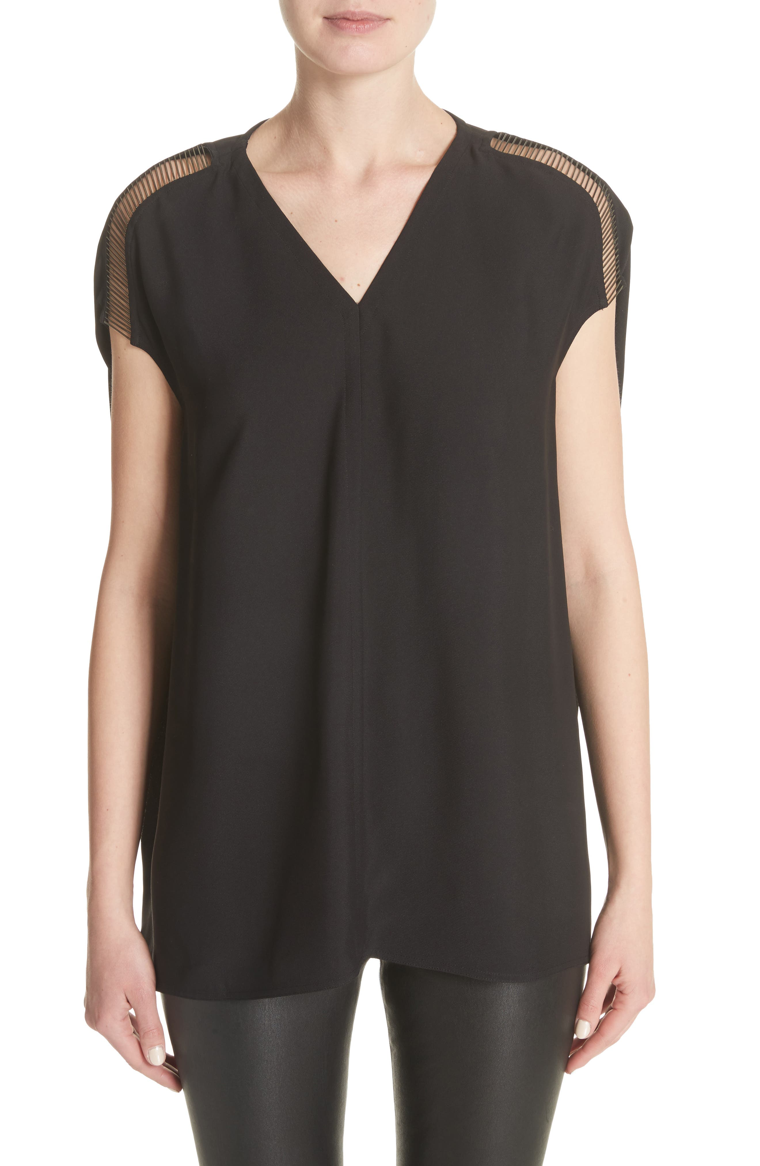 Bead Embellished Top,                         Main,                         color, 001