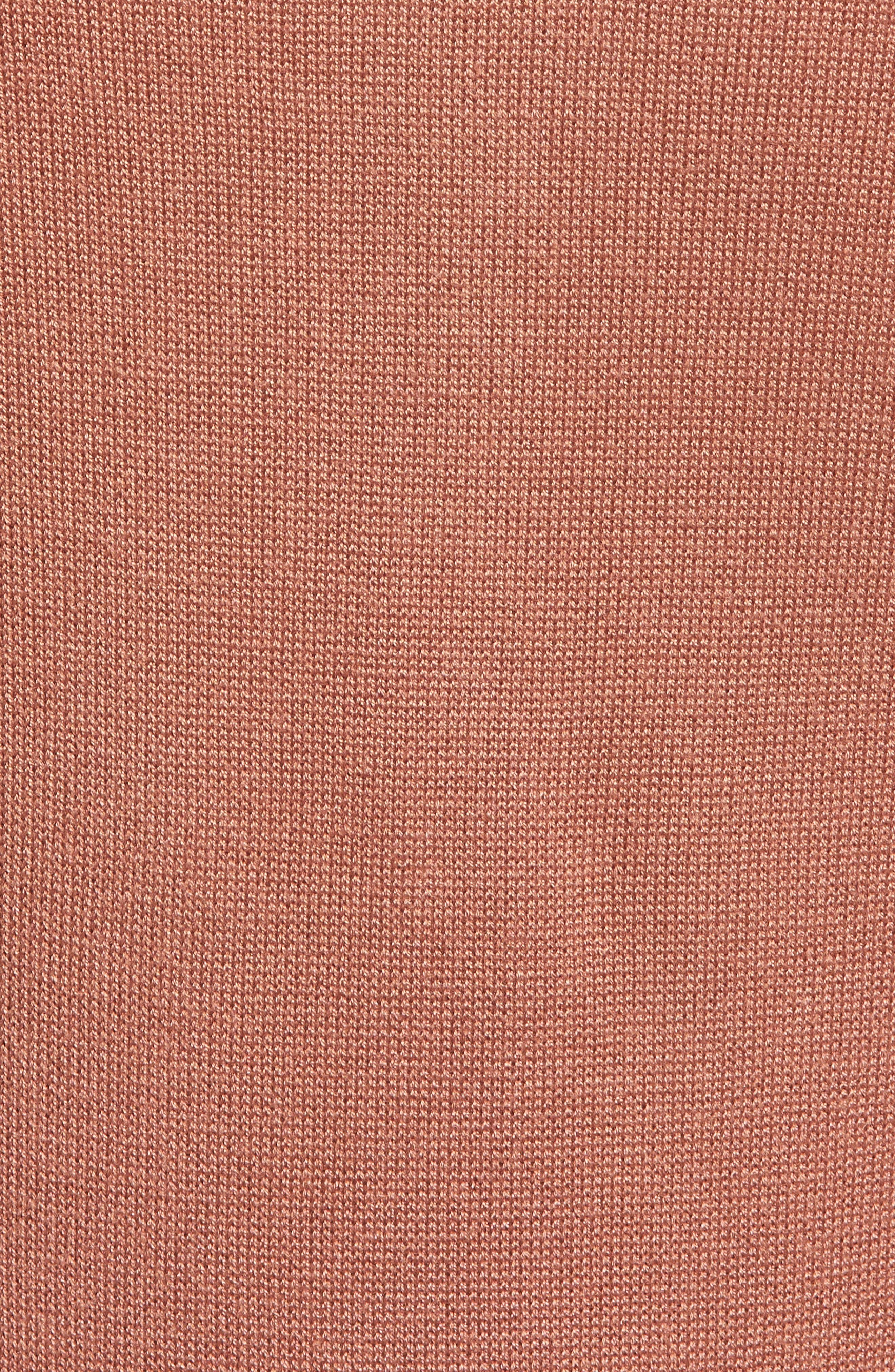 Ladder Inset Sweater Dress,                             Alternate thumbnail 6, color,                             VINTAGE ROSE