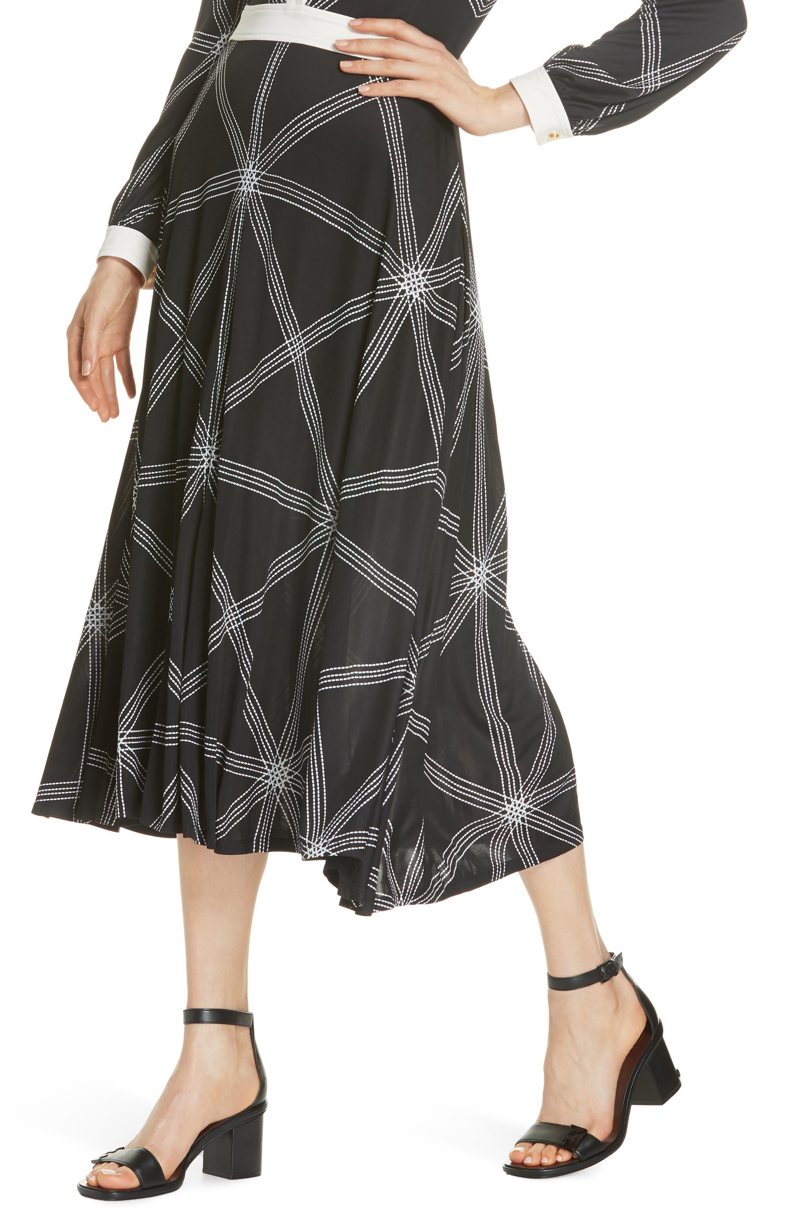 Anja Midi Dress,                             Alternate thumbnail 4, color,                             001