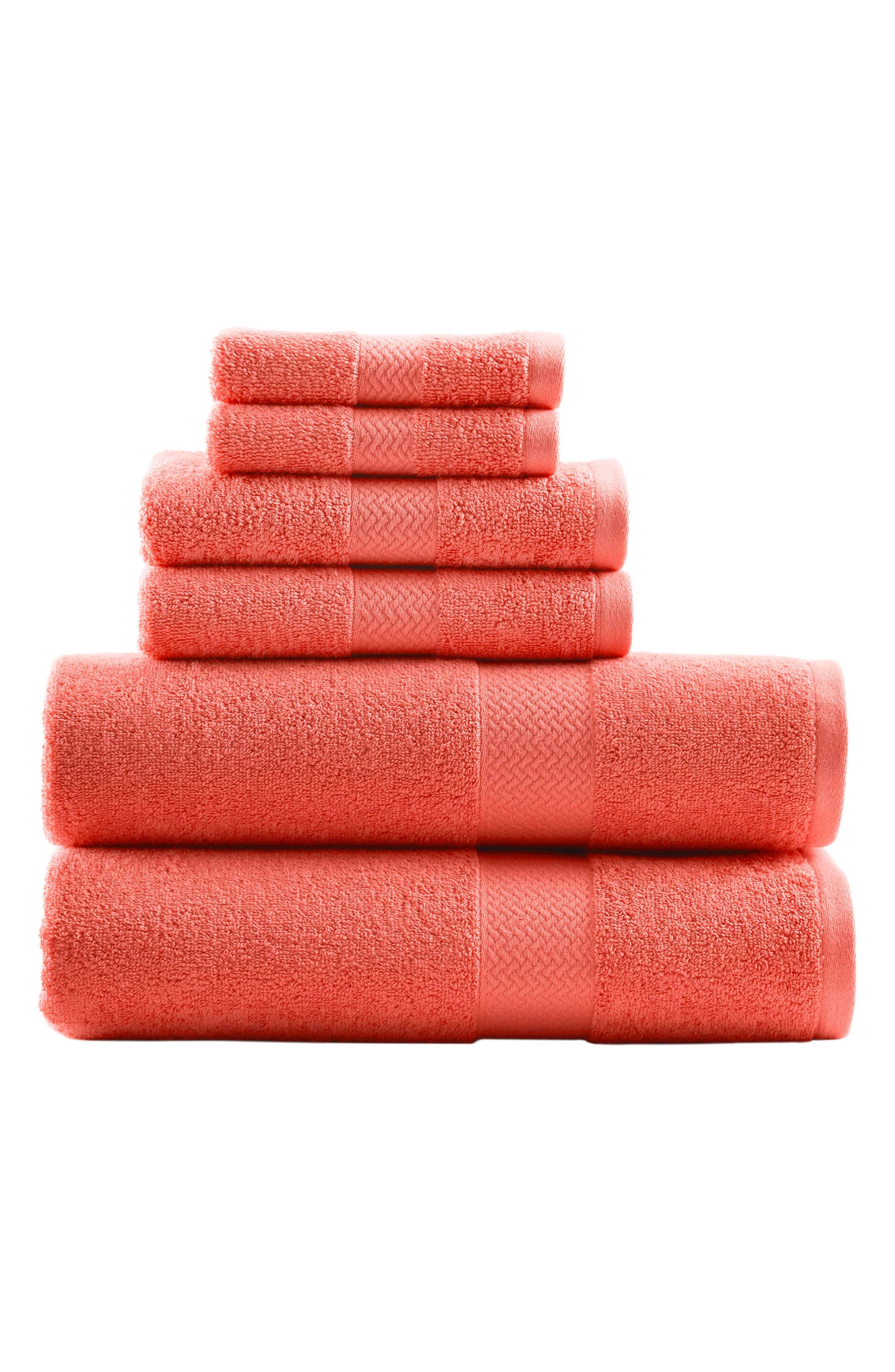 Tommy Bahama Cypress Bay 6Piece Towel Set Size One Size  Orange