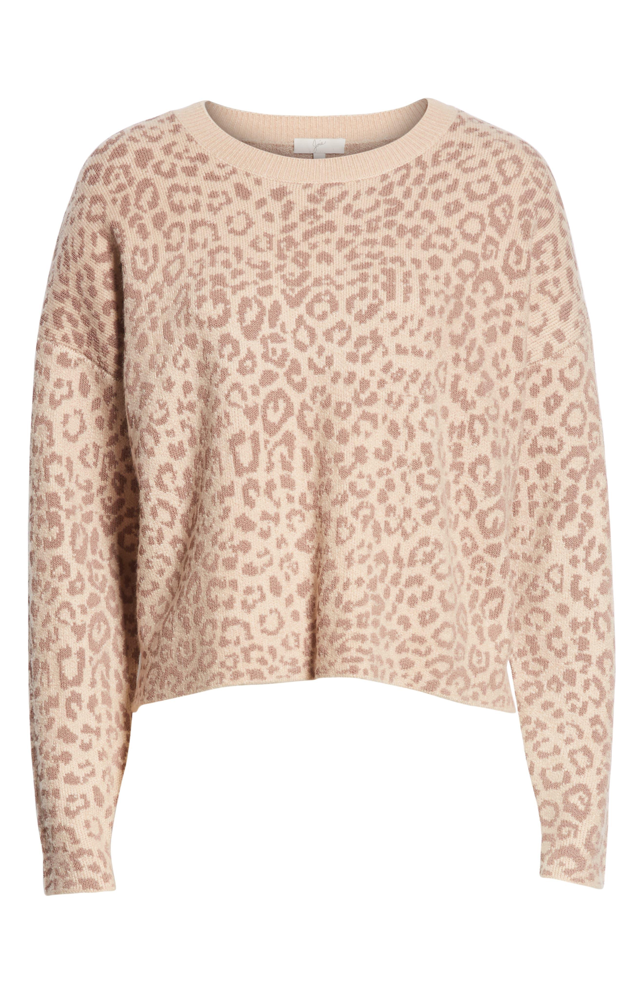 Leopard Print Sweater,                             Alternate thumbnail 6, color,                             250