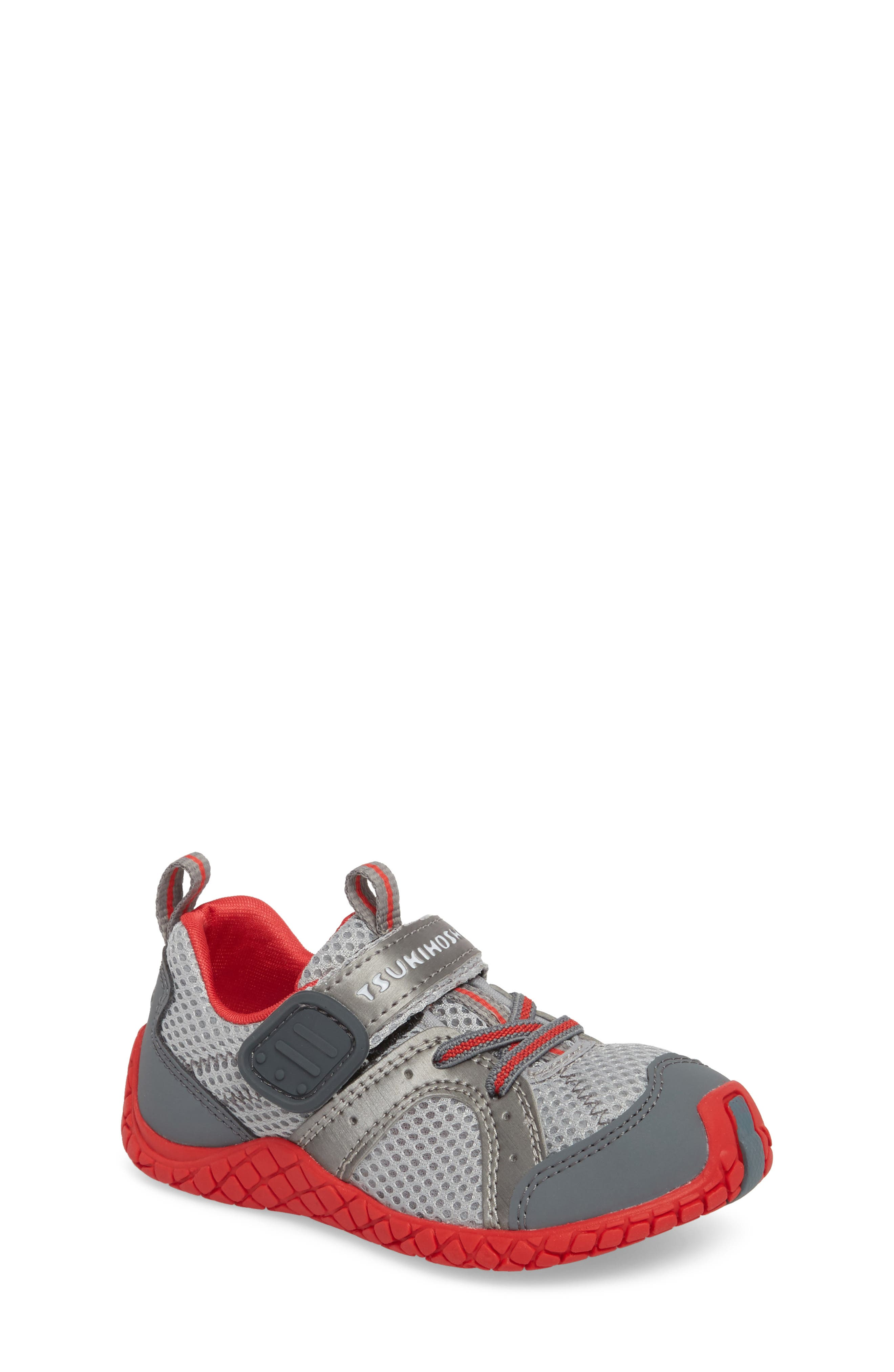 Marina Washable Sneaker,                         Main,                         color, STEEL/ RED