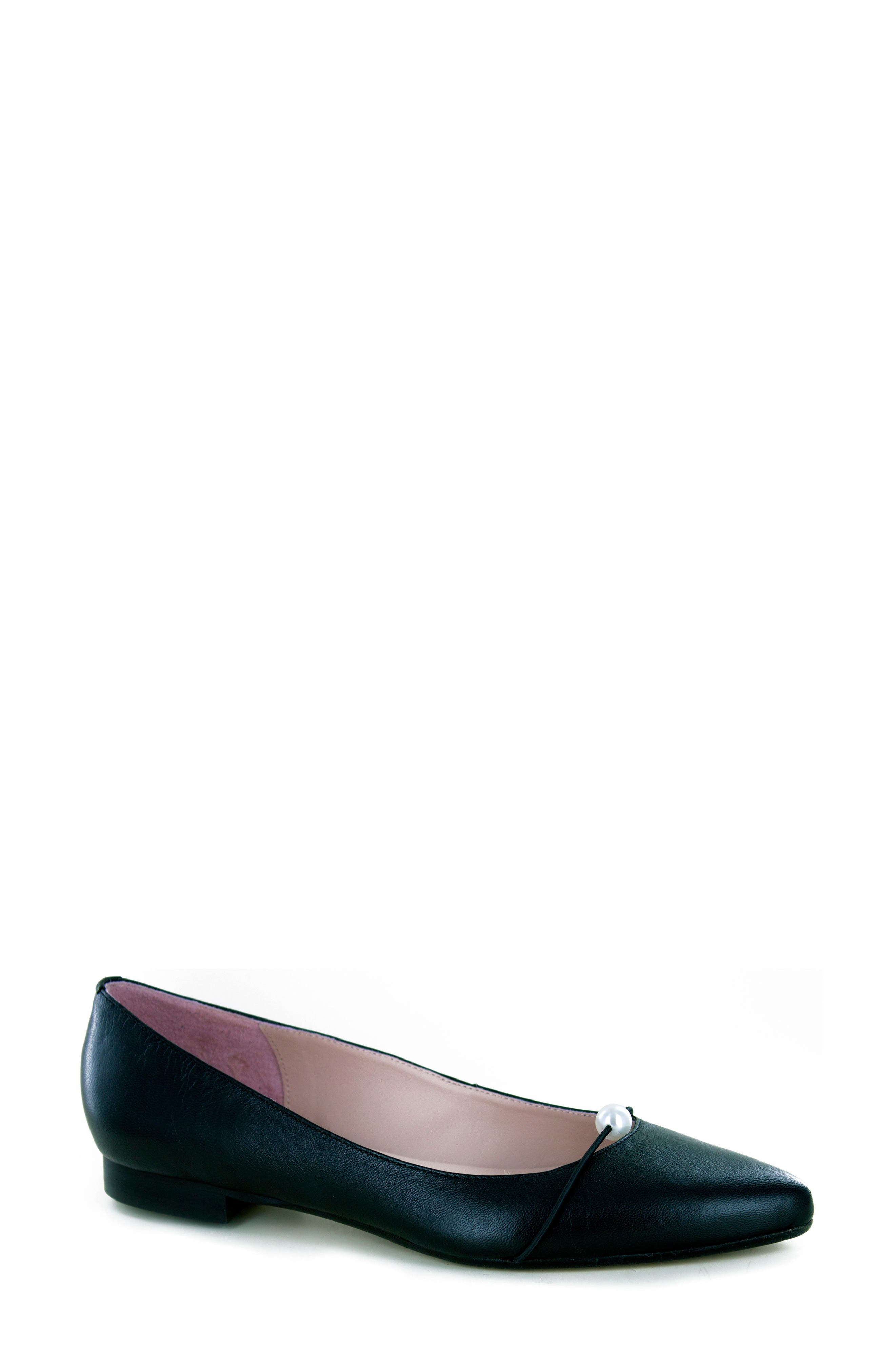 Kaelyn Flat,                         Main,                         color, BLACK LEATHER