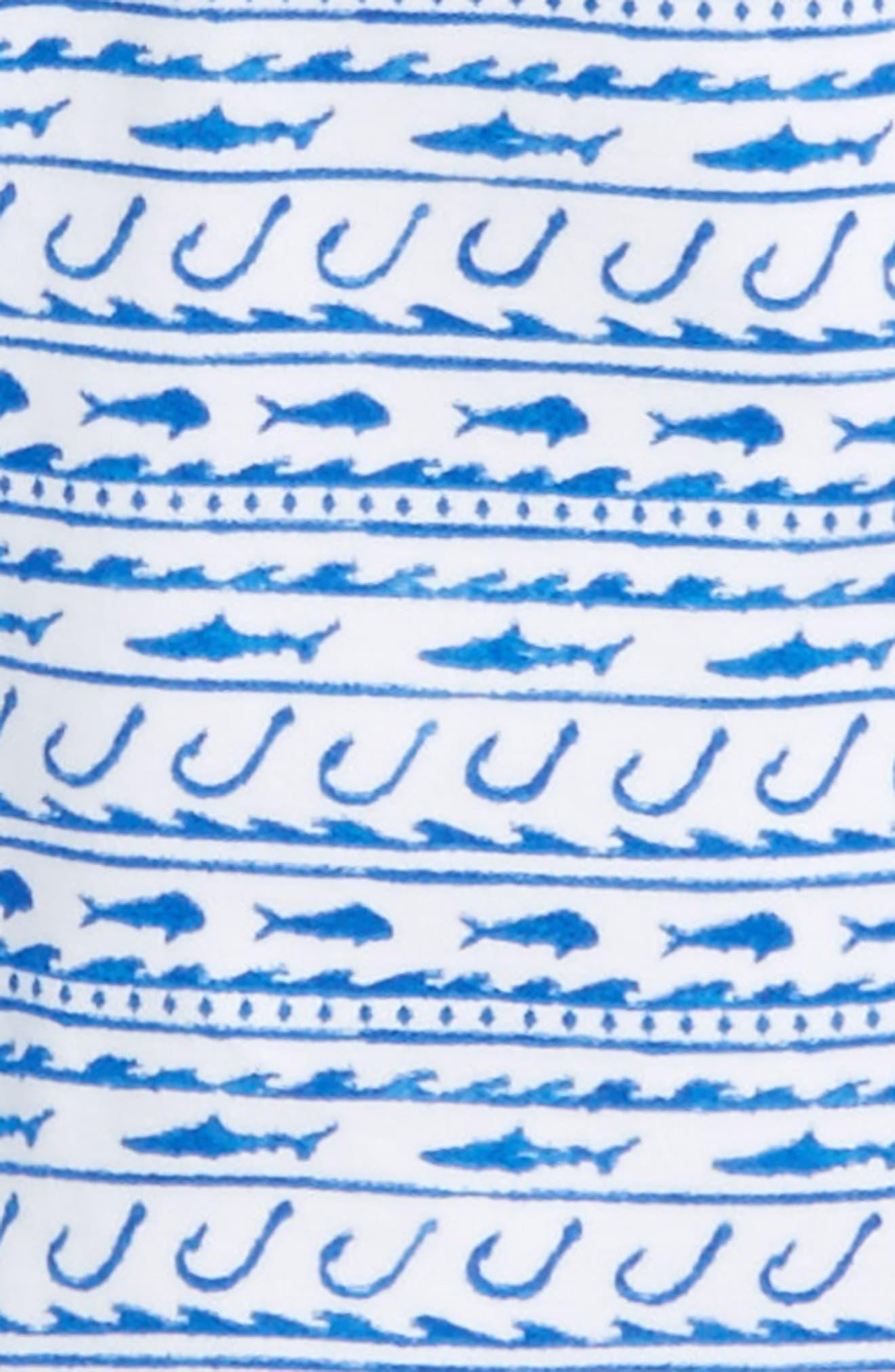 Fish Hook Waves Pima Cotton Footie,                             Alternate thumbnail 2, color,                             400