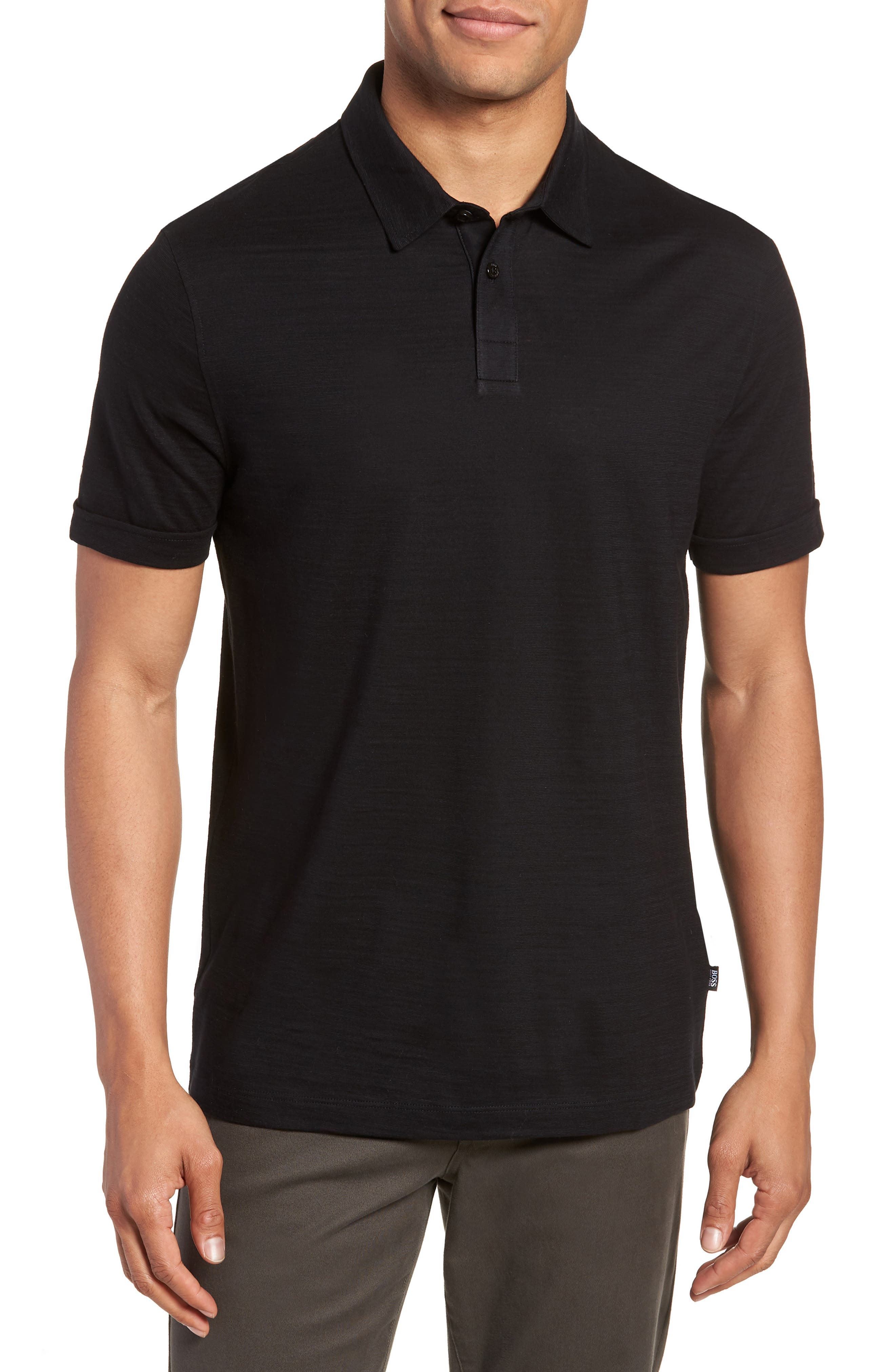 Press Flame Slim Fit Polo Shirt,                         Main,                         color, 001