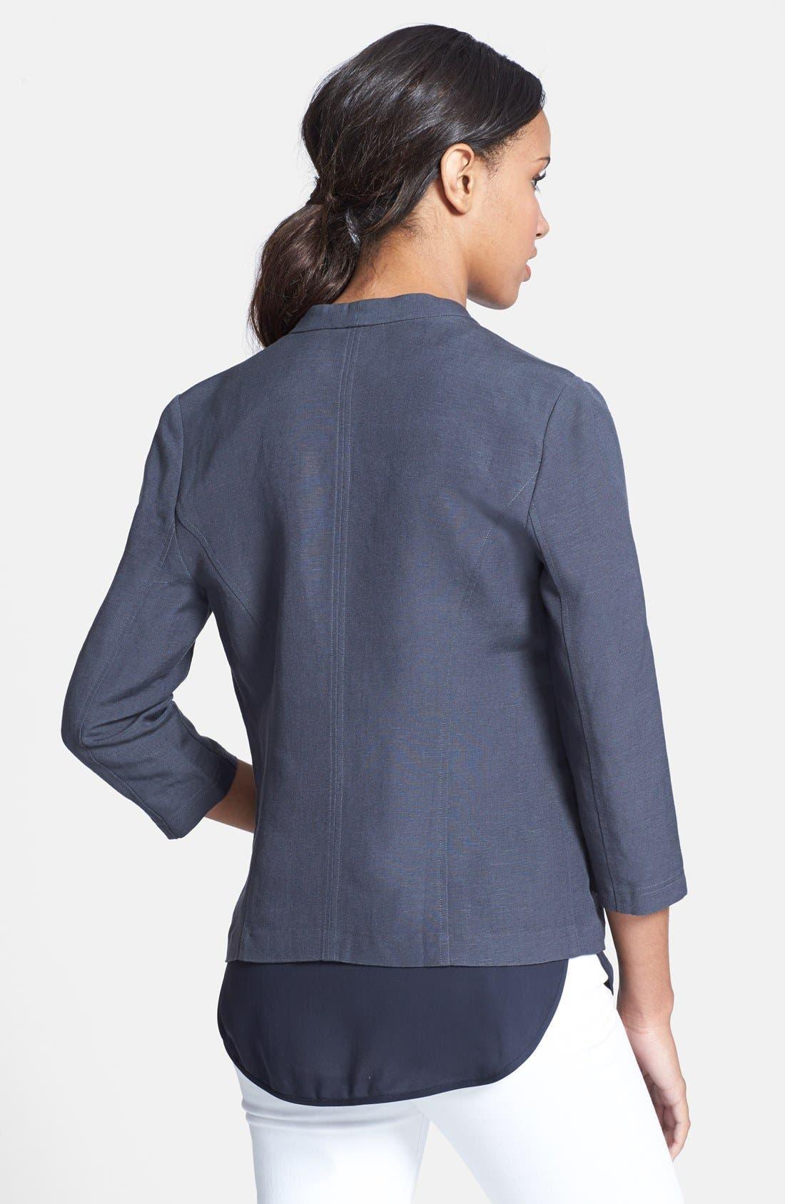 Linen Blend Jacket,                             Alternate thumbnail 2, color,                             030