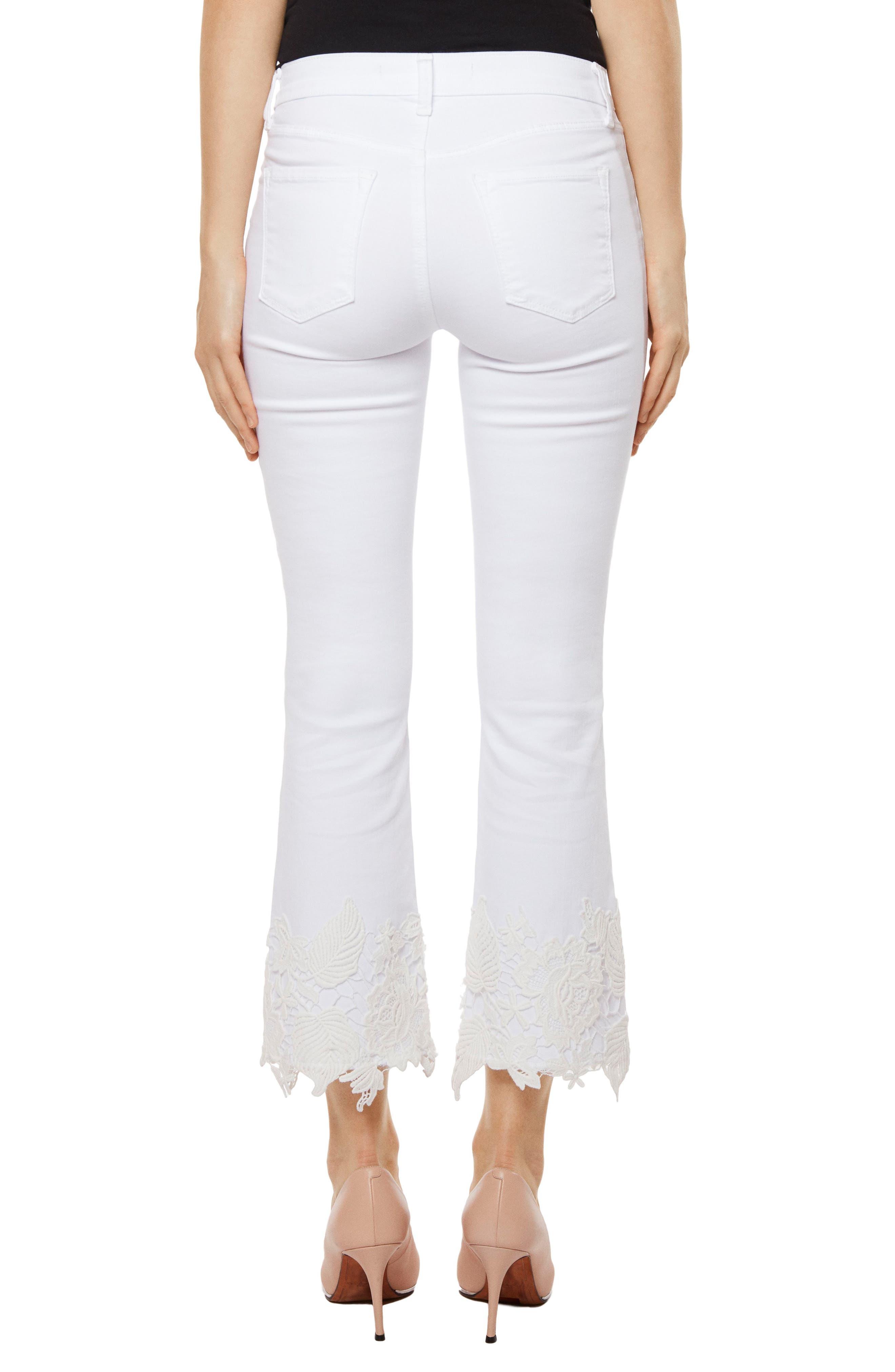 Selena Crop Bootcut Jeans,                             Alternate thumbnail 2, color,                             103