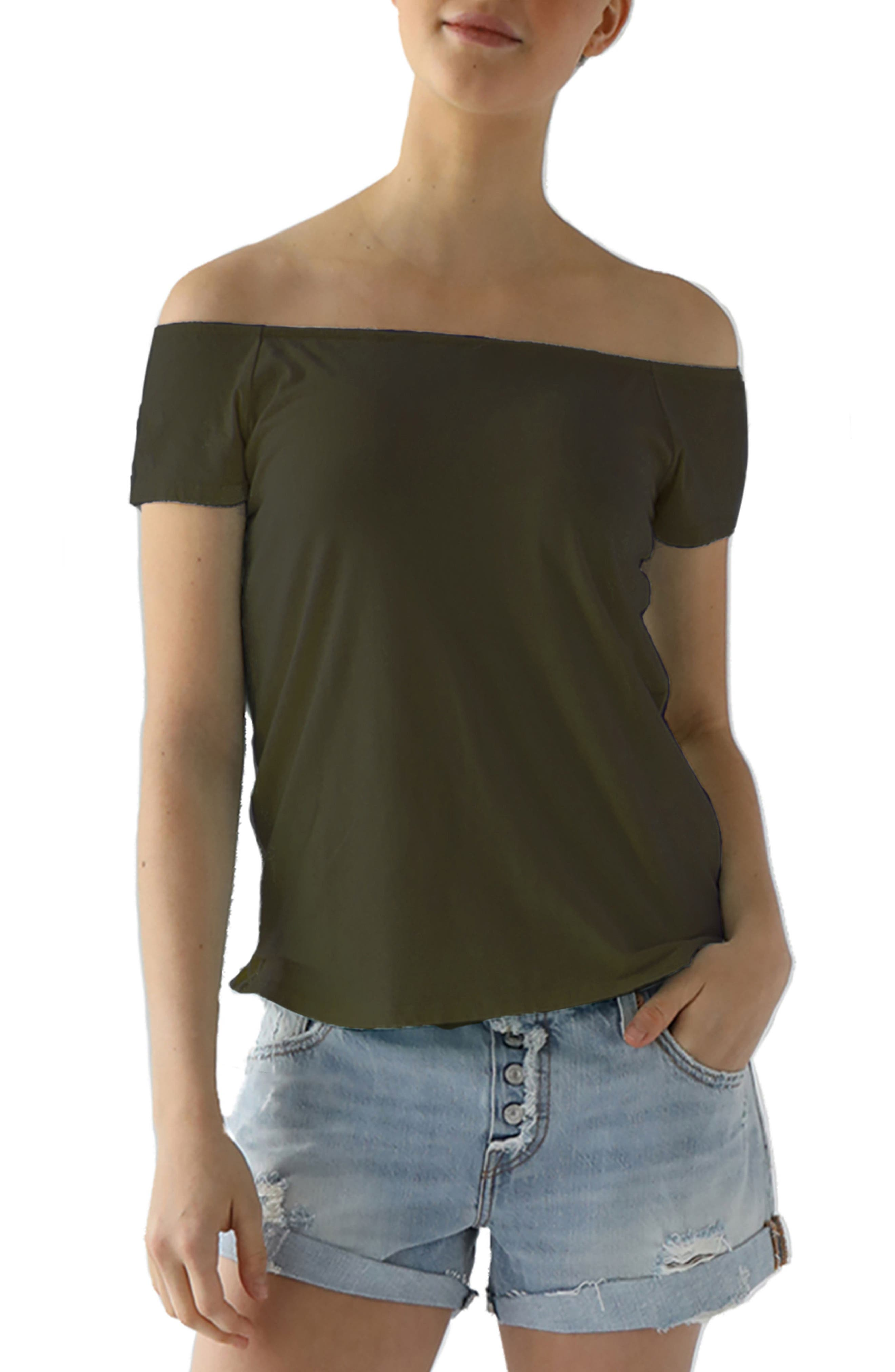 Imelda Tissue Jersey Off the Shoulder Tee,                             Main thumbnail 3, color,