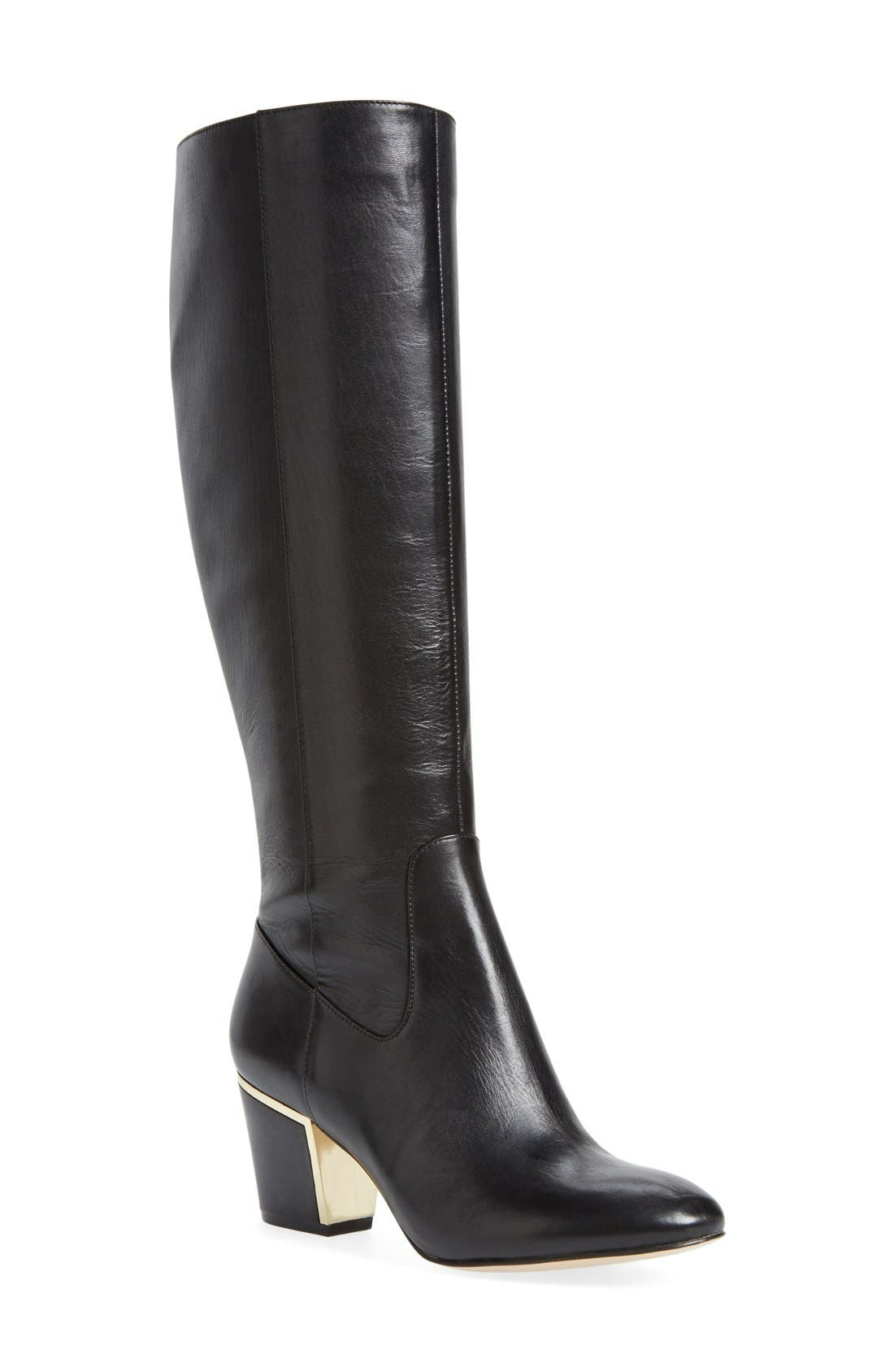 'Keana' Knee High Boot,                             Main thumbnail 1, color,                             001