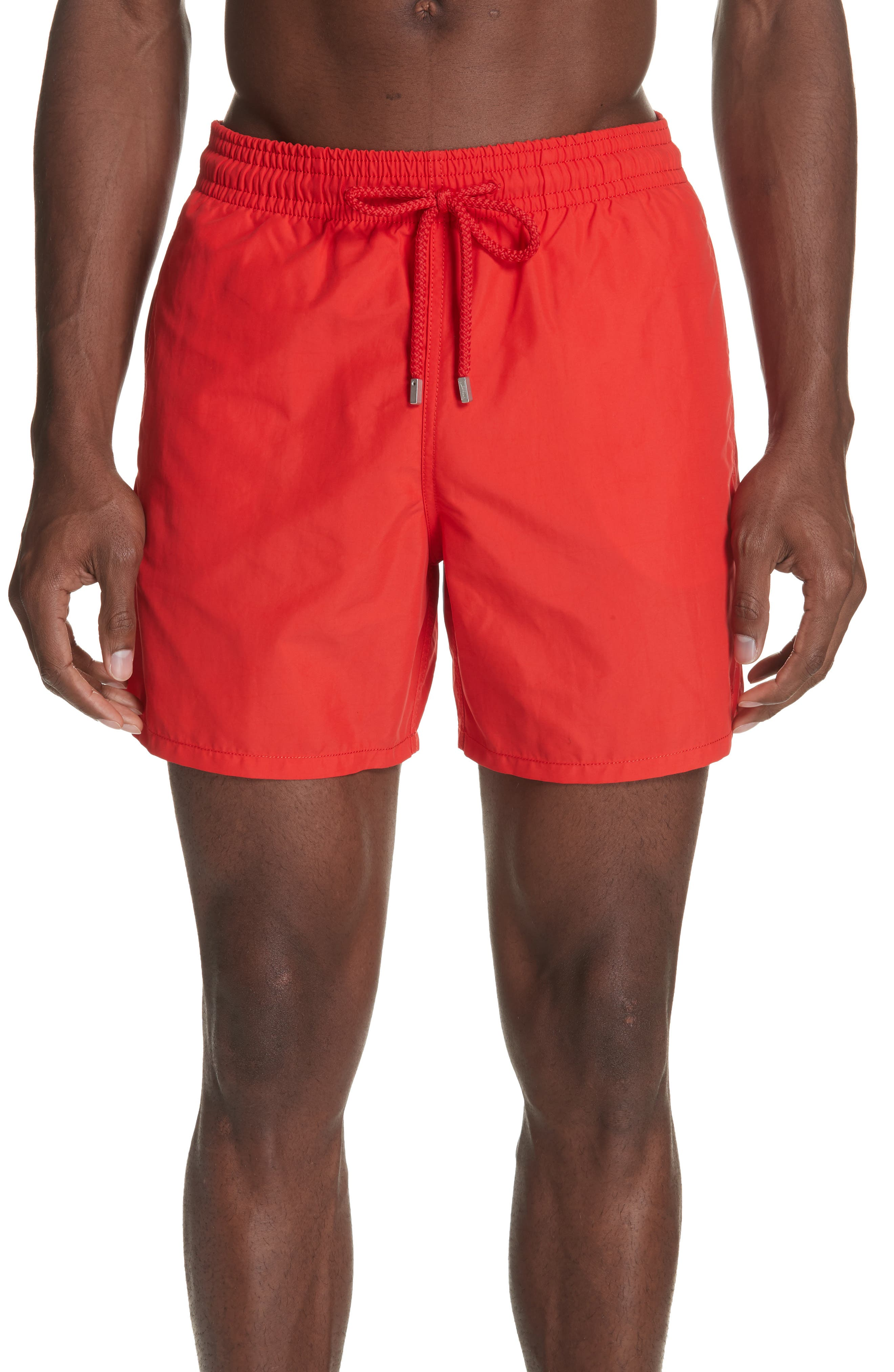 Magic Whales Water Reactive Swim Trunks,                             Main thumbnail 1, color,                             POPPY