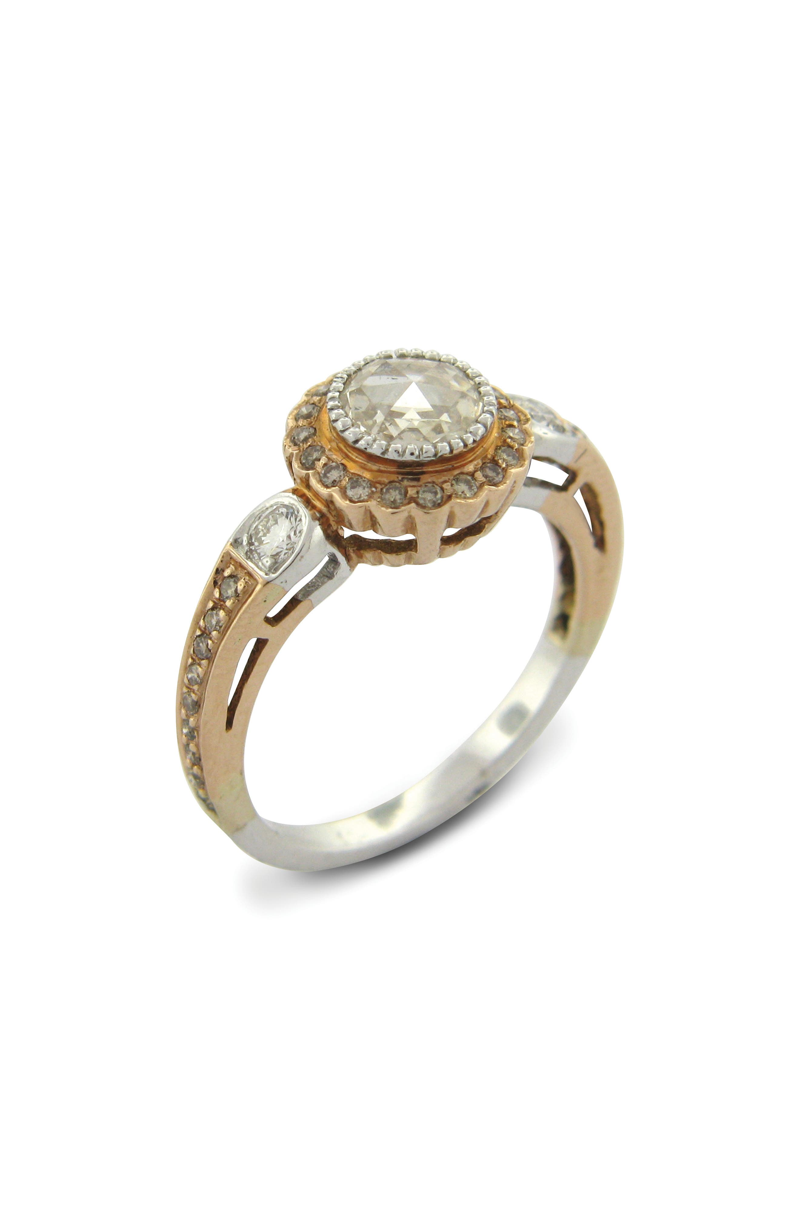 SETHI COUTURE True Romance Champagne Diamond Ring, Main, color, ROSE GOLD/ DIAMOND