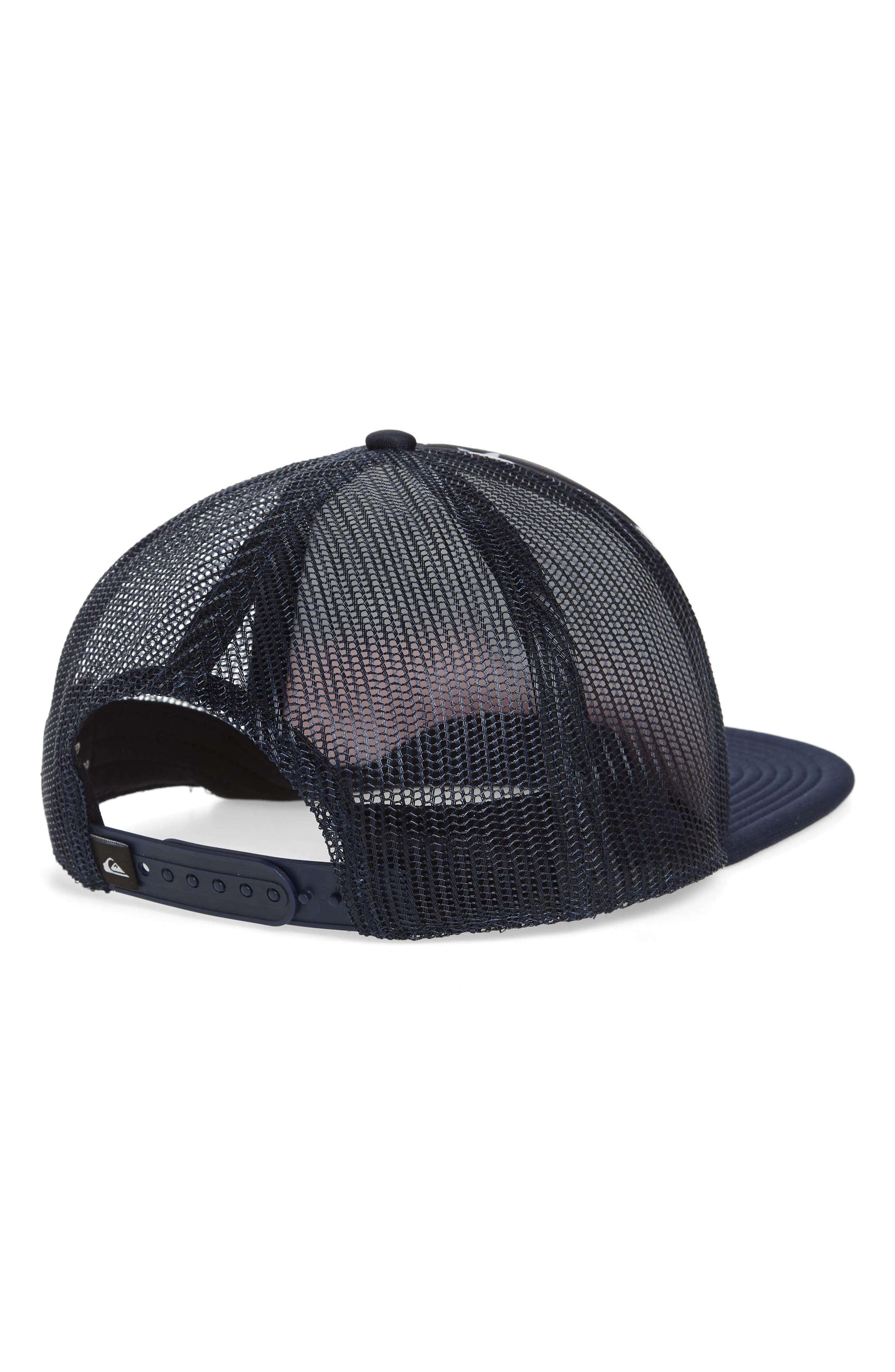 Quicksilver Faded Out Trucker Hat,                             Alternate thumbnail 6, color,