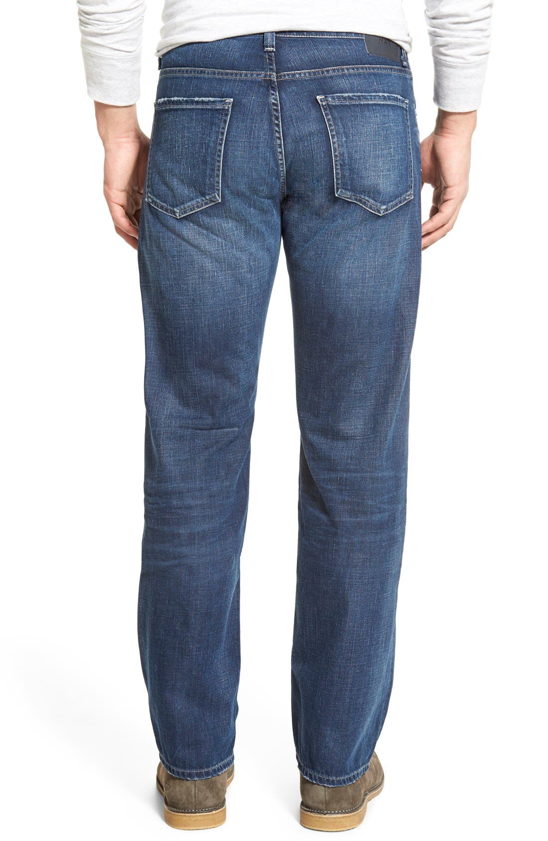 'Evans' Relaxed Fit Jeans,                             Alternate thumbnail 2, color,                             DERBY