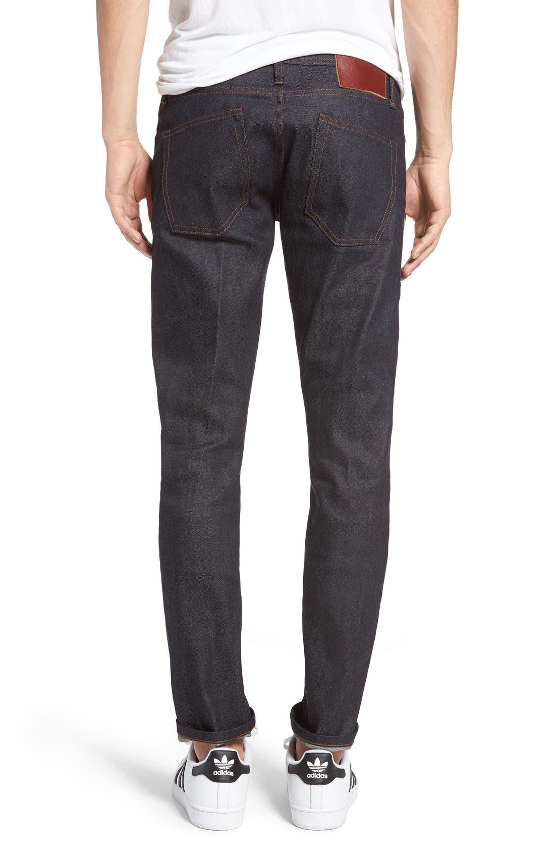 UB422 Selvedge Skinny Fit Jeans,                             Alternate thumbnail 2, color,                             401