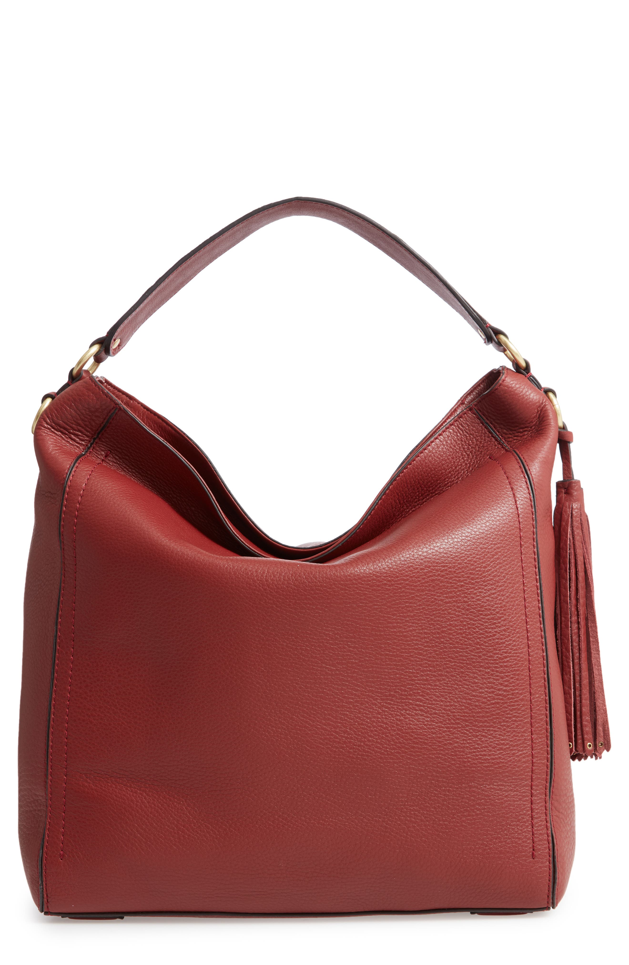 Cassidy RFID Pebbled Leather Bucket Bag,                             Main thumbnail 2, color,