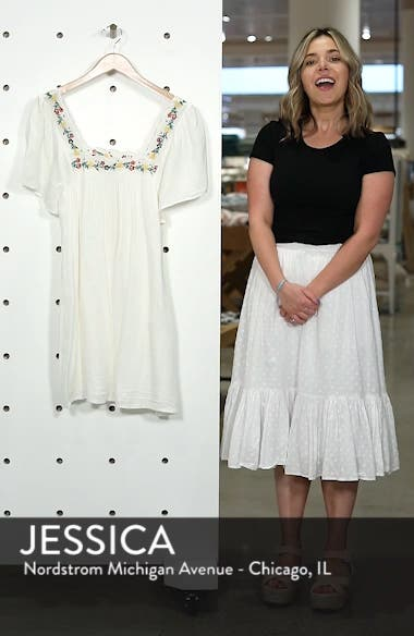 Caitlin Embroidered Shift Dress, sales video thumbnail