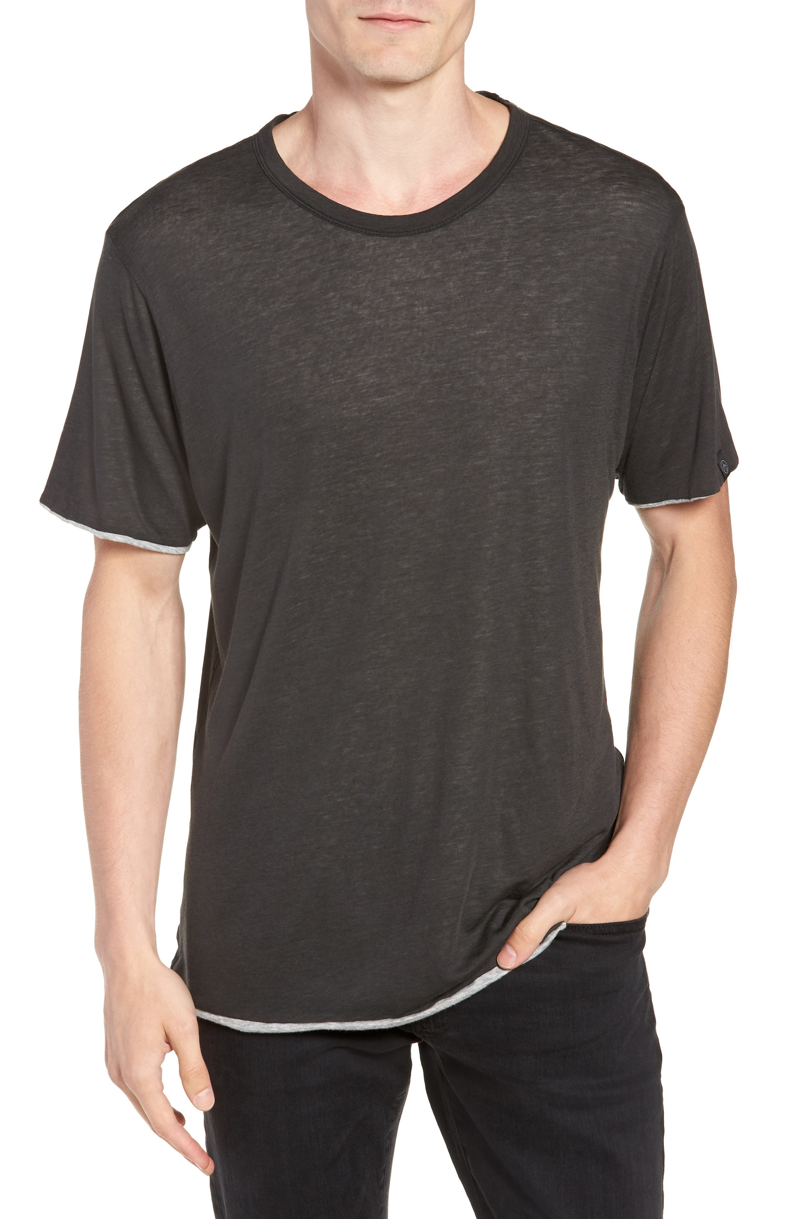 Reversible T-Shirt,                         Main,                         color, IVORY/ GREY
