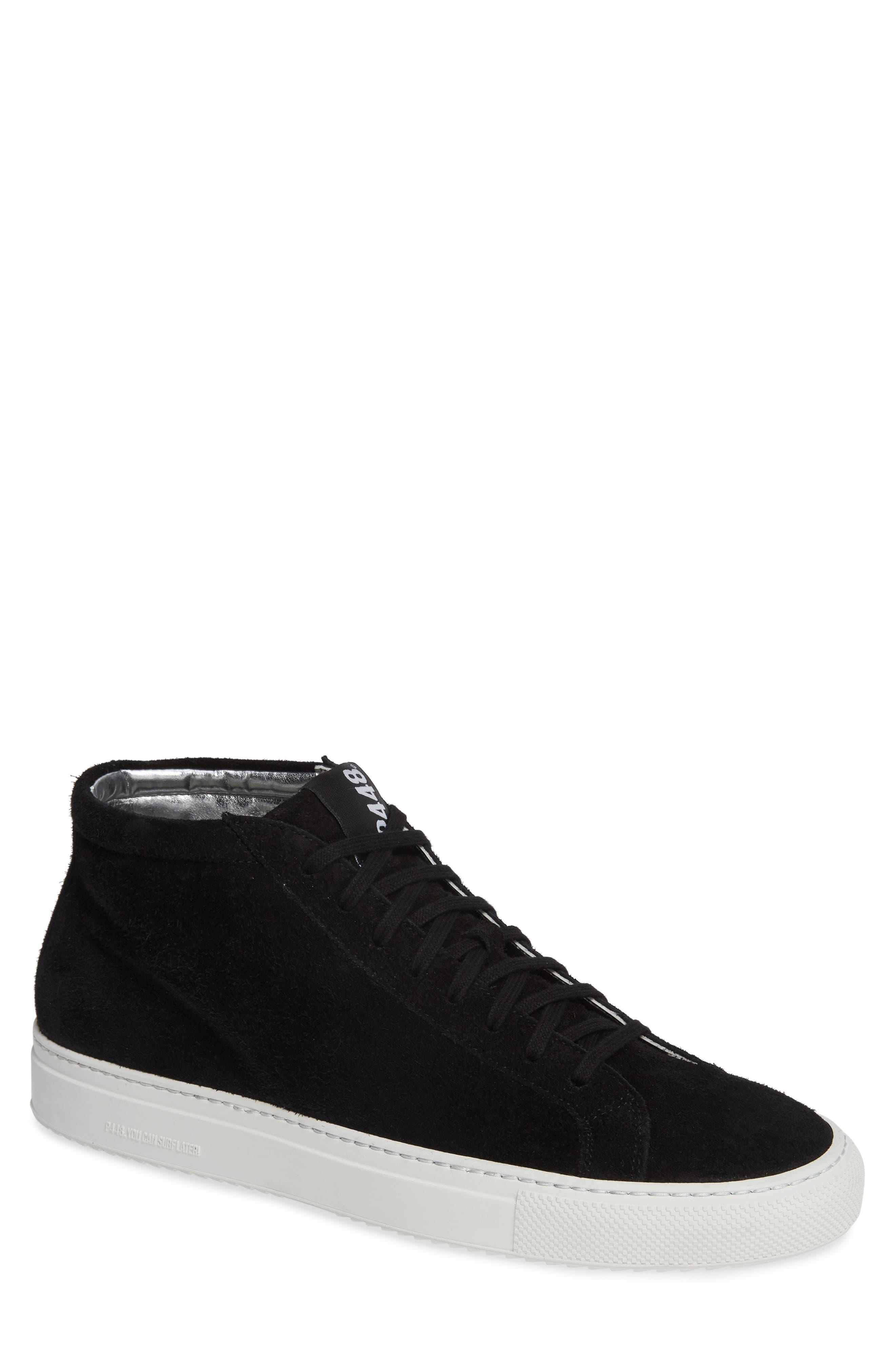 A8Elevent Mid Sneaker,                             Main thumbnail 1, color,                             BLACK BRUSH