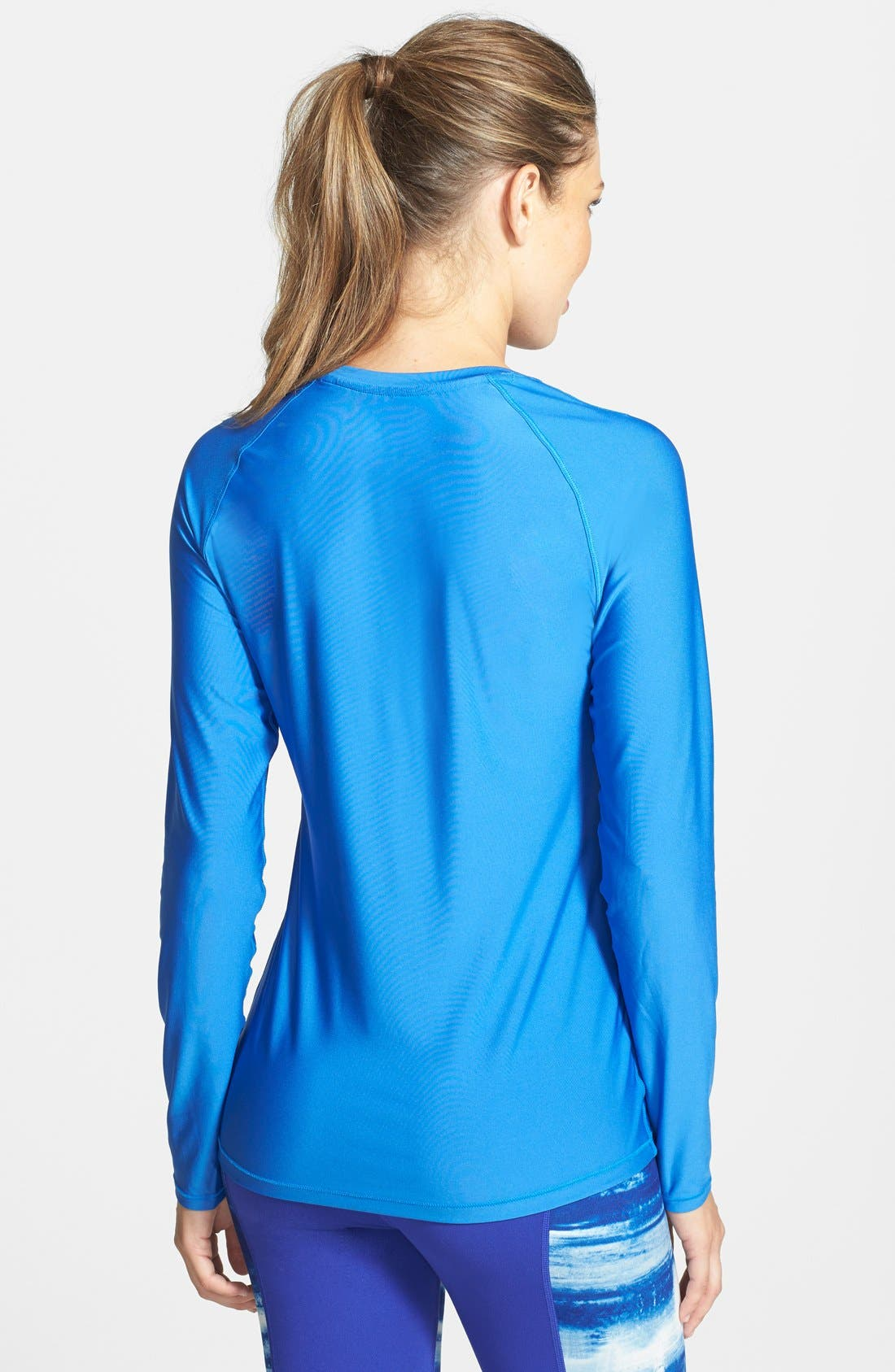 'Alpha Novelty' HeatGear<sup>®</sup> Long Sleeve Top,                             Alternate thumbnail 6, color,