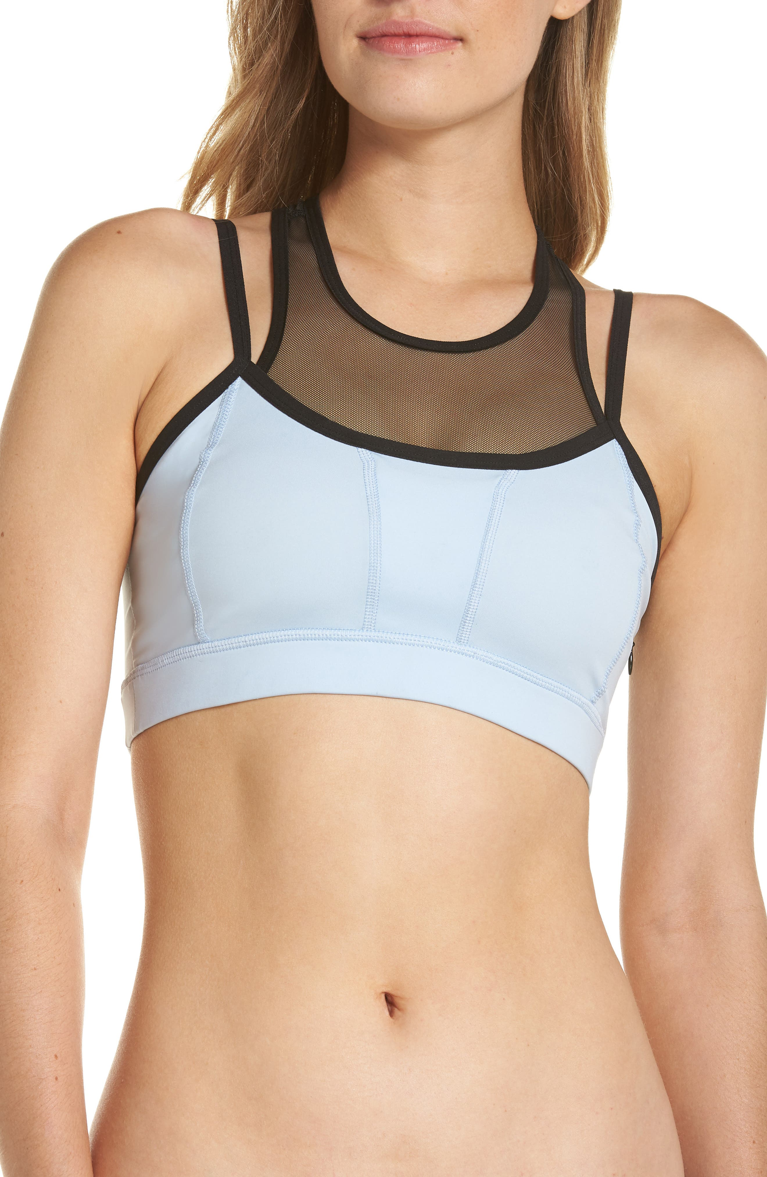 Stealth Sports Bra,                         Main,                         color, BLUE CASHMERE