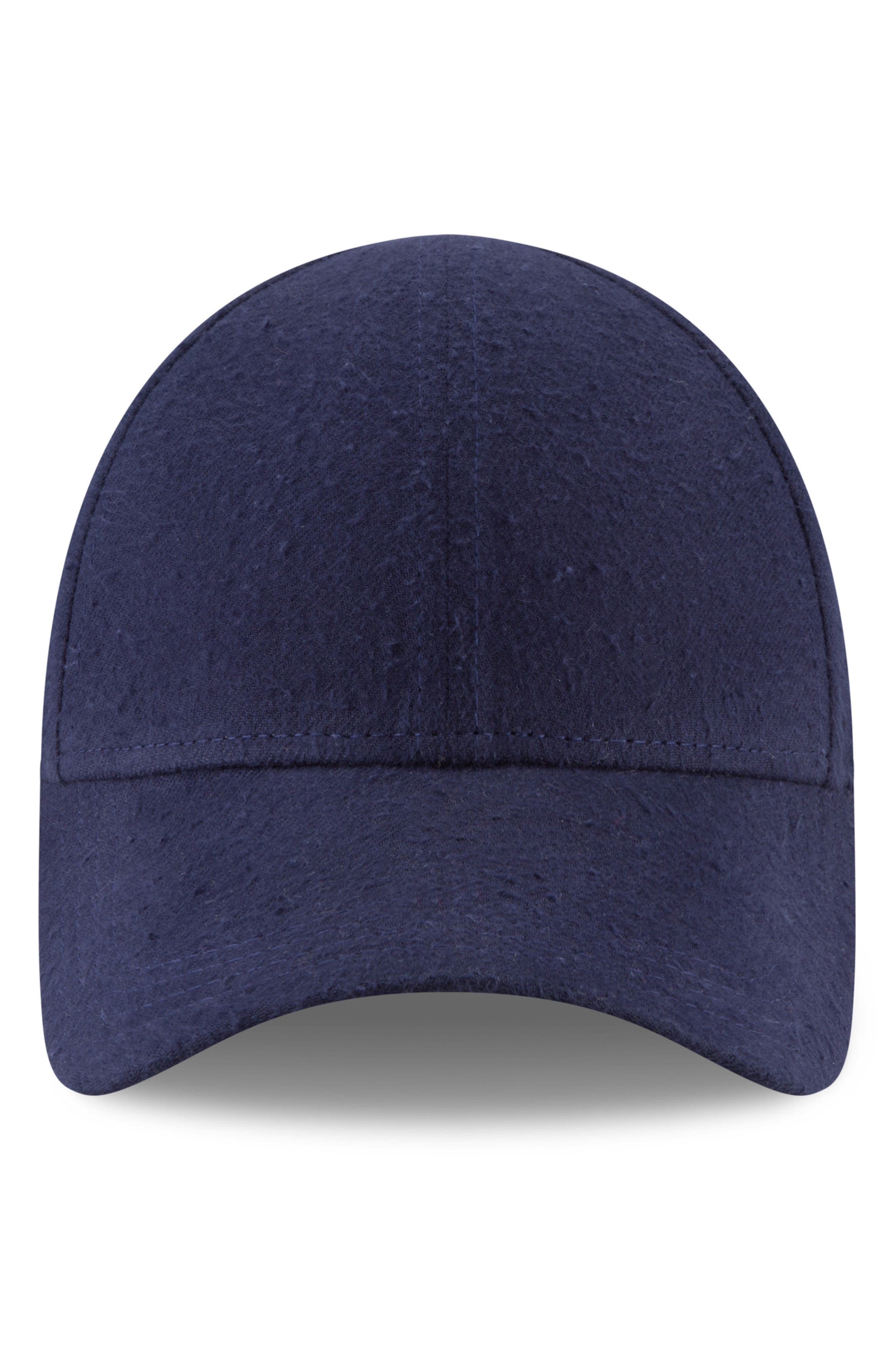 New Era 9Forty Fleece Baseball Cap,                             Main thumbnail 1, color,                             NAVY