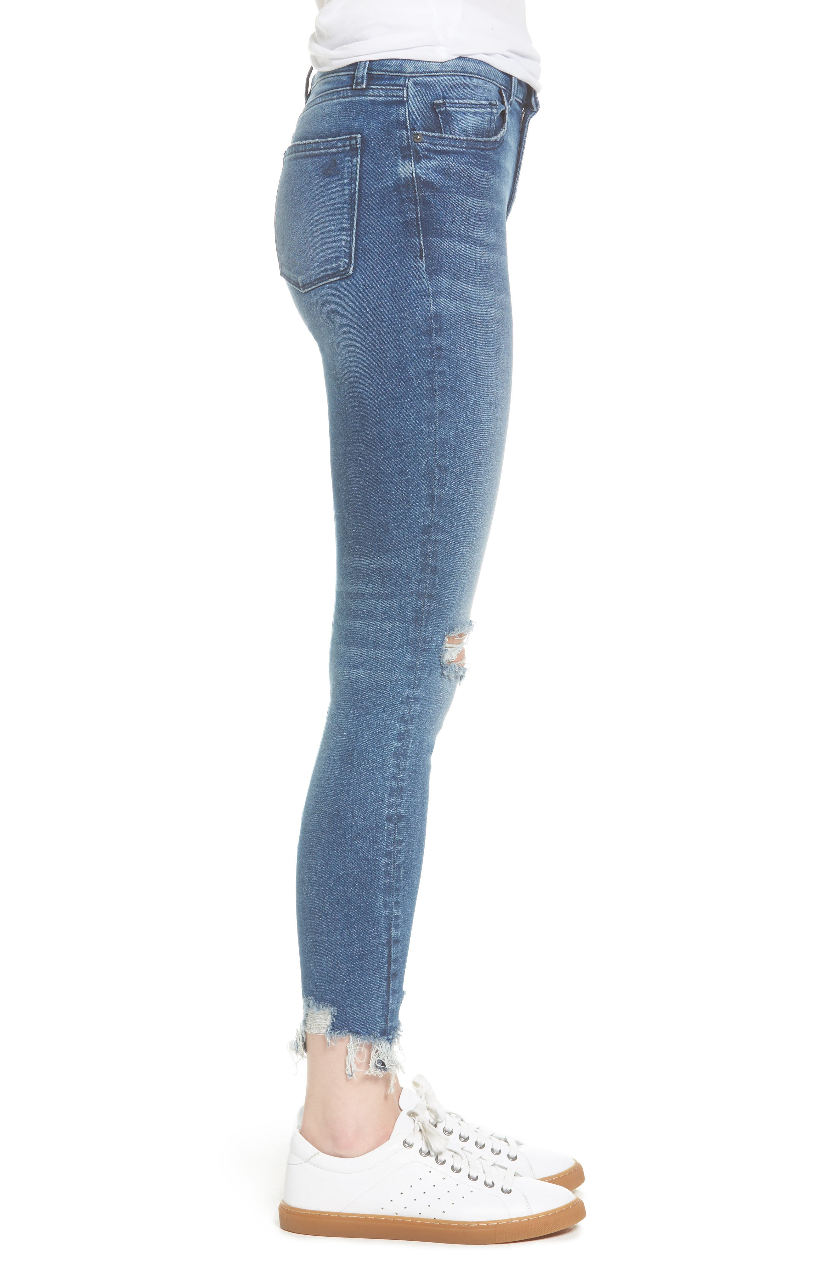 Farrow Instaslim High Waist Ankle Skinny Jeans,                             Alternate thumbnail 3, color,                             430