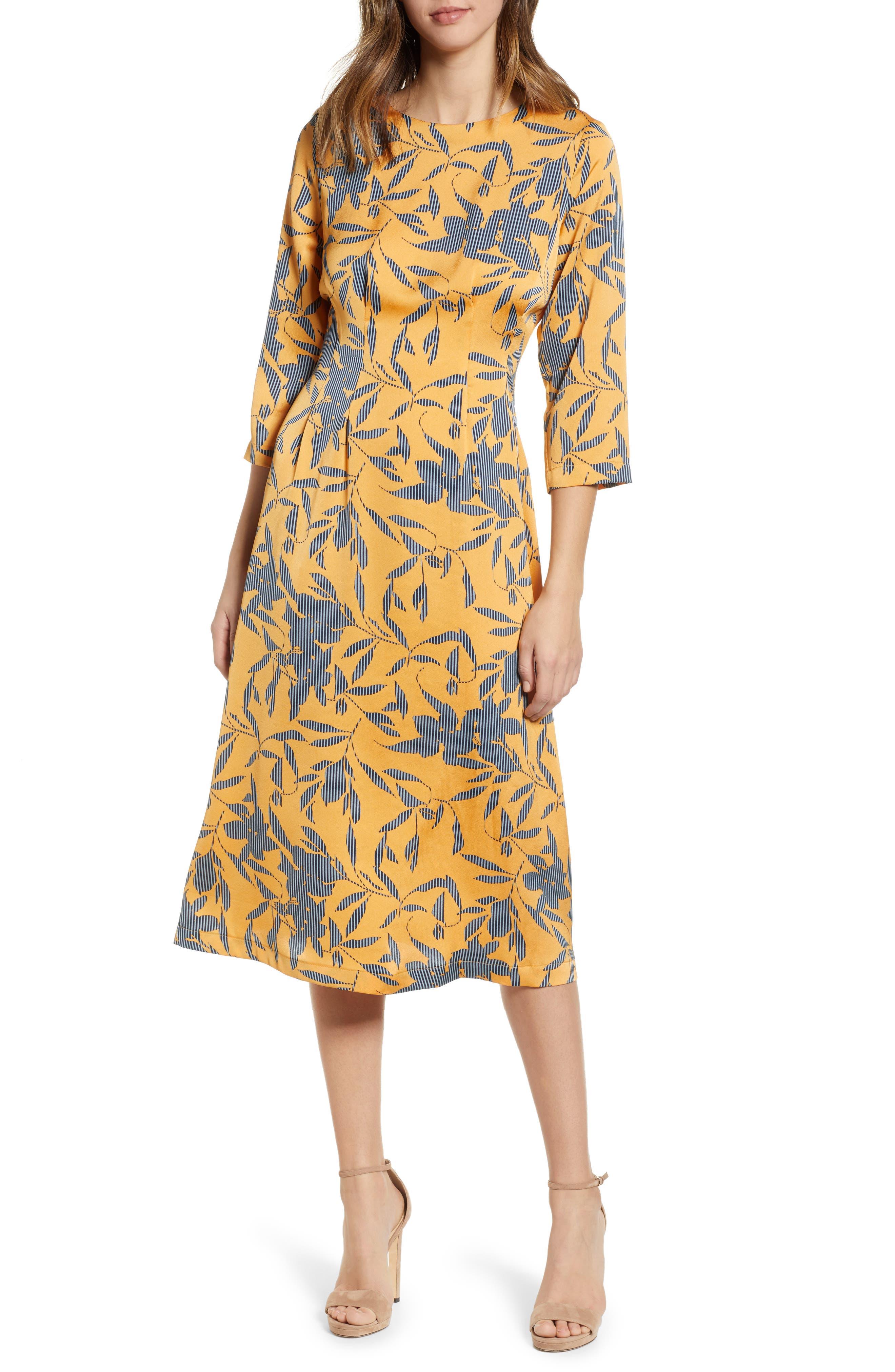 VERO MODA Olivia A-Line Dress in Golden Nugget