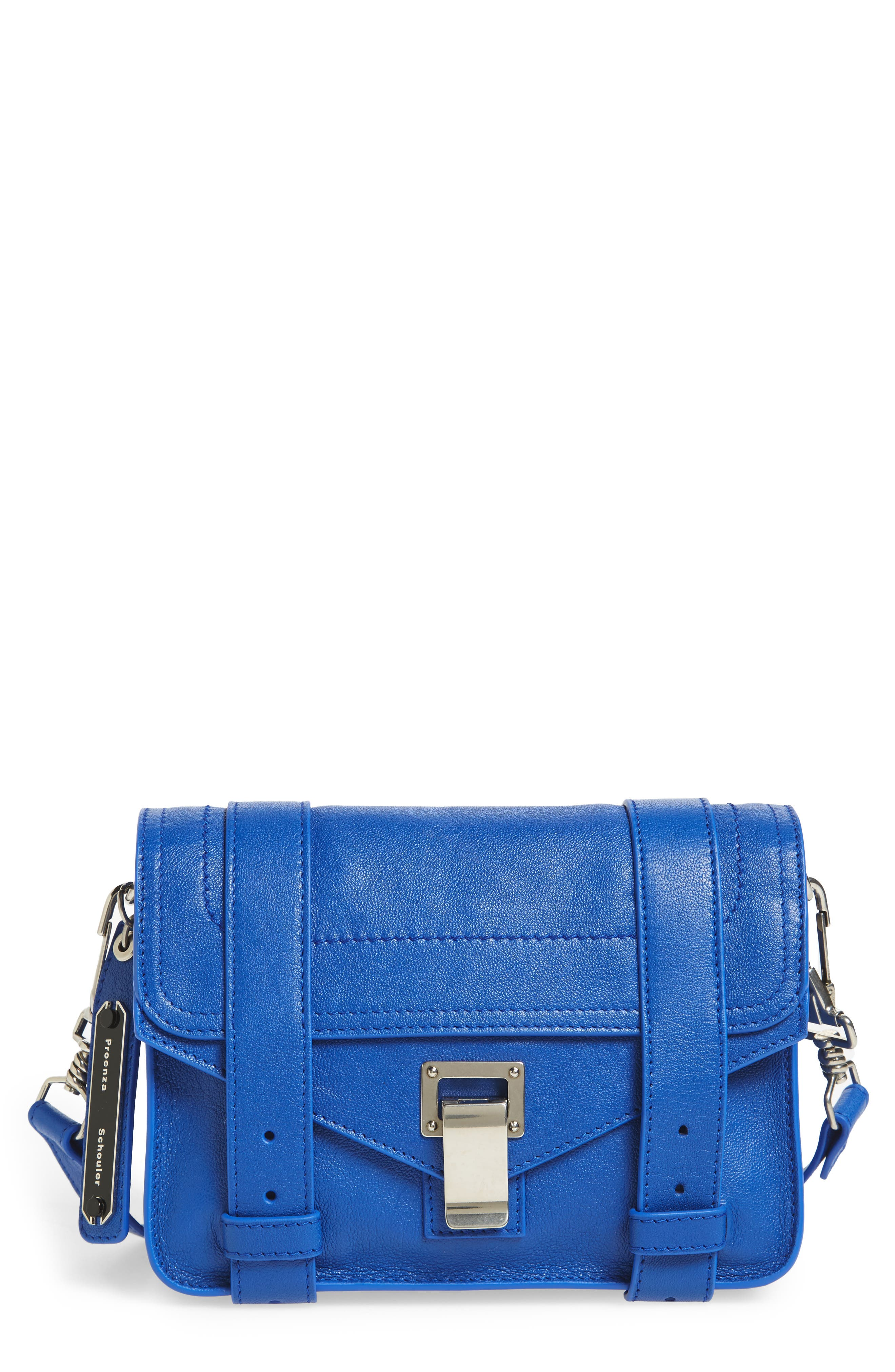 'Mini PS1' Lambskin Leather Crossbody Bag,                             Main thumbnail 3, color,